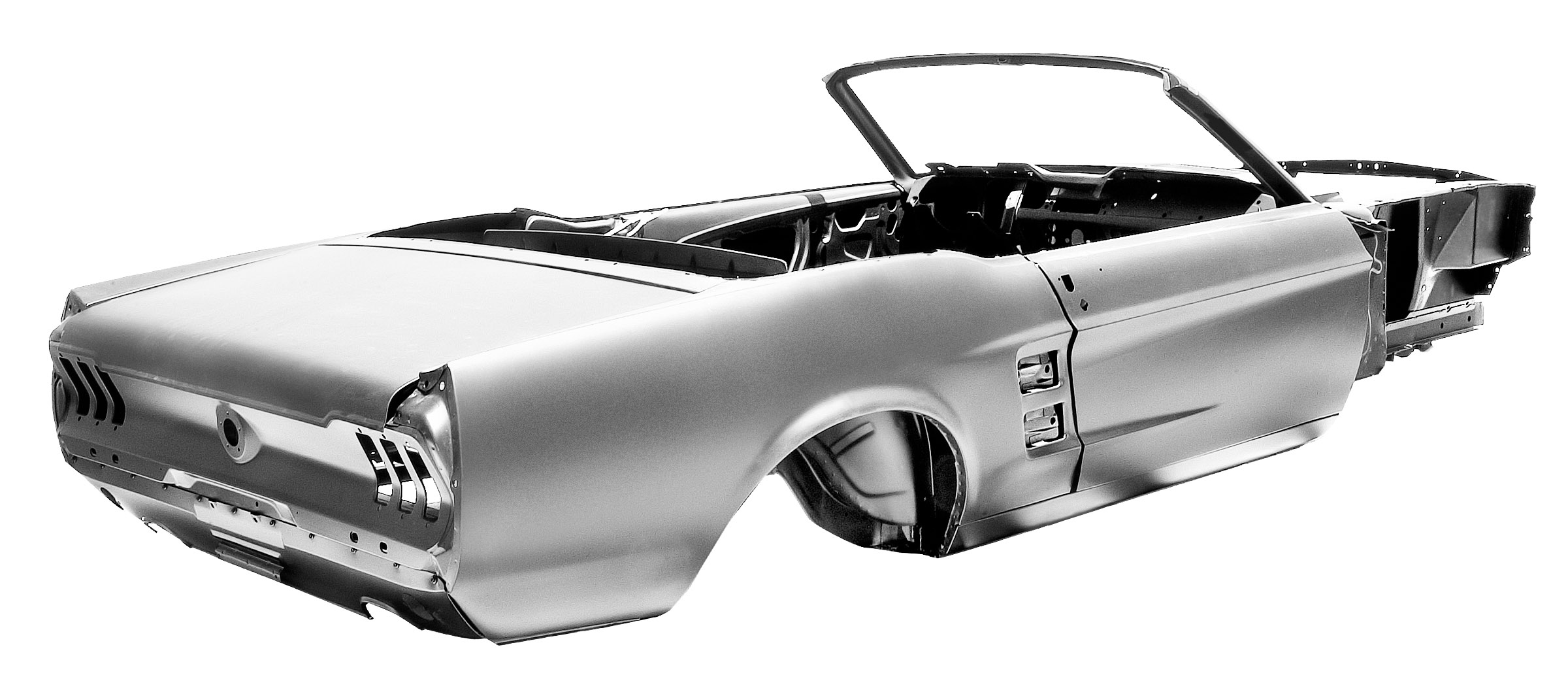 Newly Forged 67 Mustang Convertible Shell To Please