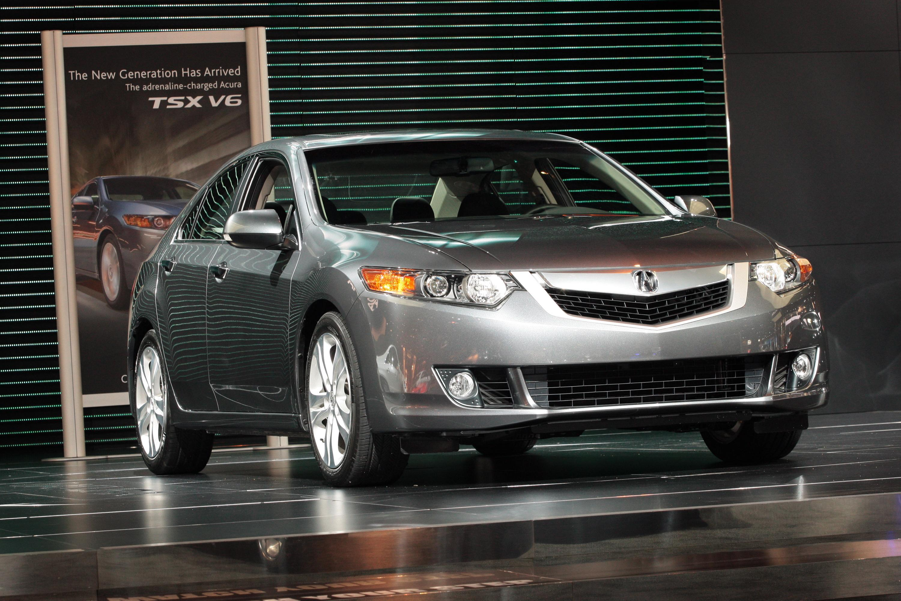 2010 acura tsx v 6 debuts at chicago auto show. Black Bedroom Furniture Sets. Home Design Ideas