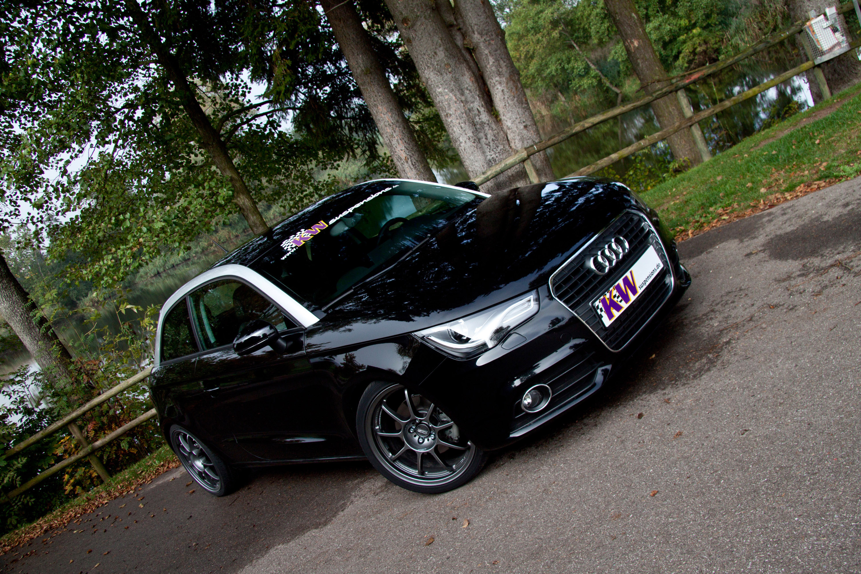 audi a1 with kw coilover suspension kit. Black Bedroom Furniture Sets. Home Design Ideas
