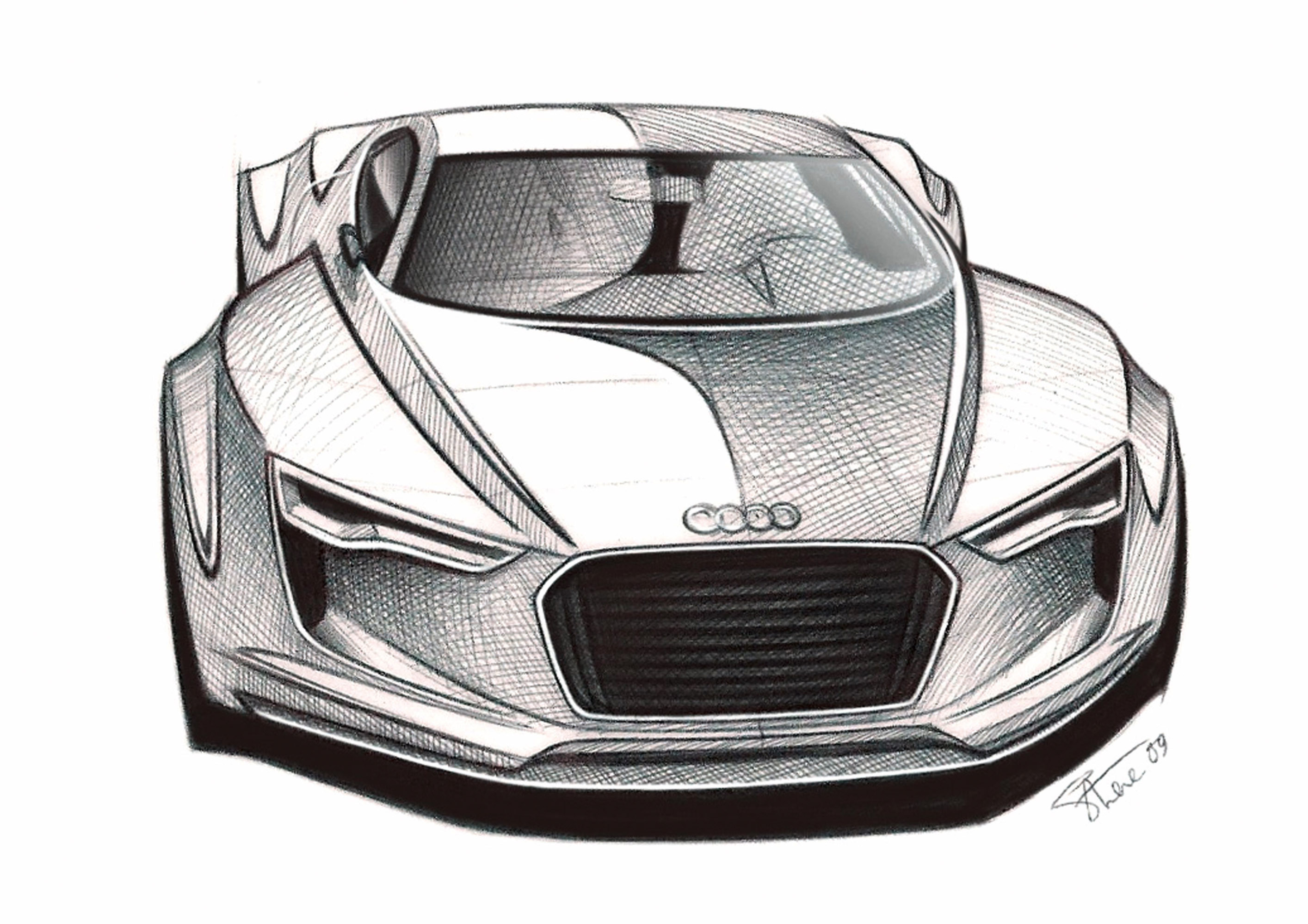 Audi Flicks Switch On Second Electric Show Car In Detroit - Audi car drawing