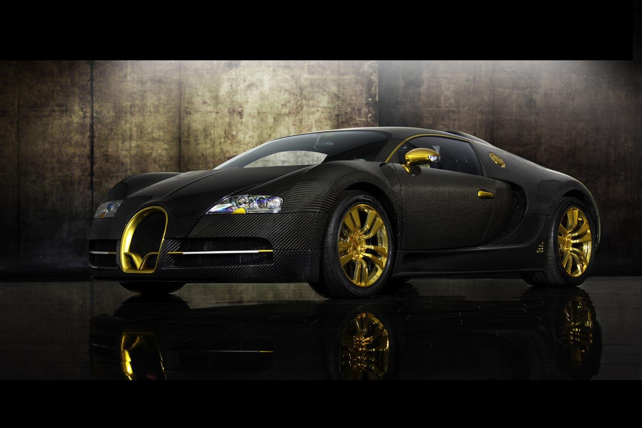 Black And Gold Bugatti (2010)bugatti veyron linea