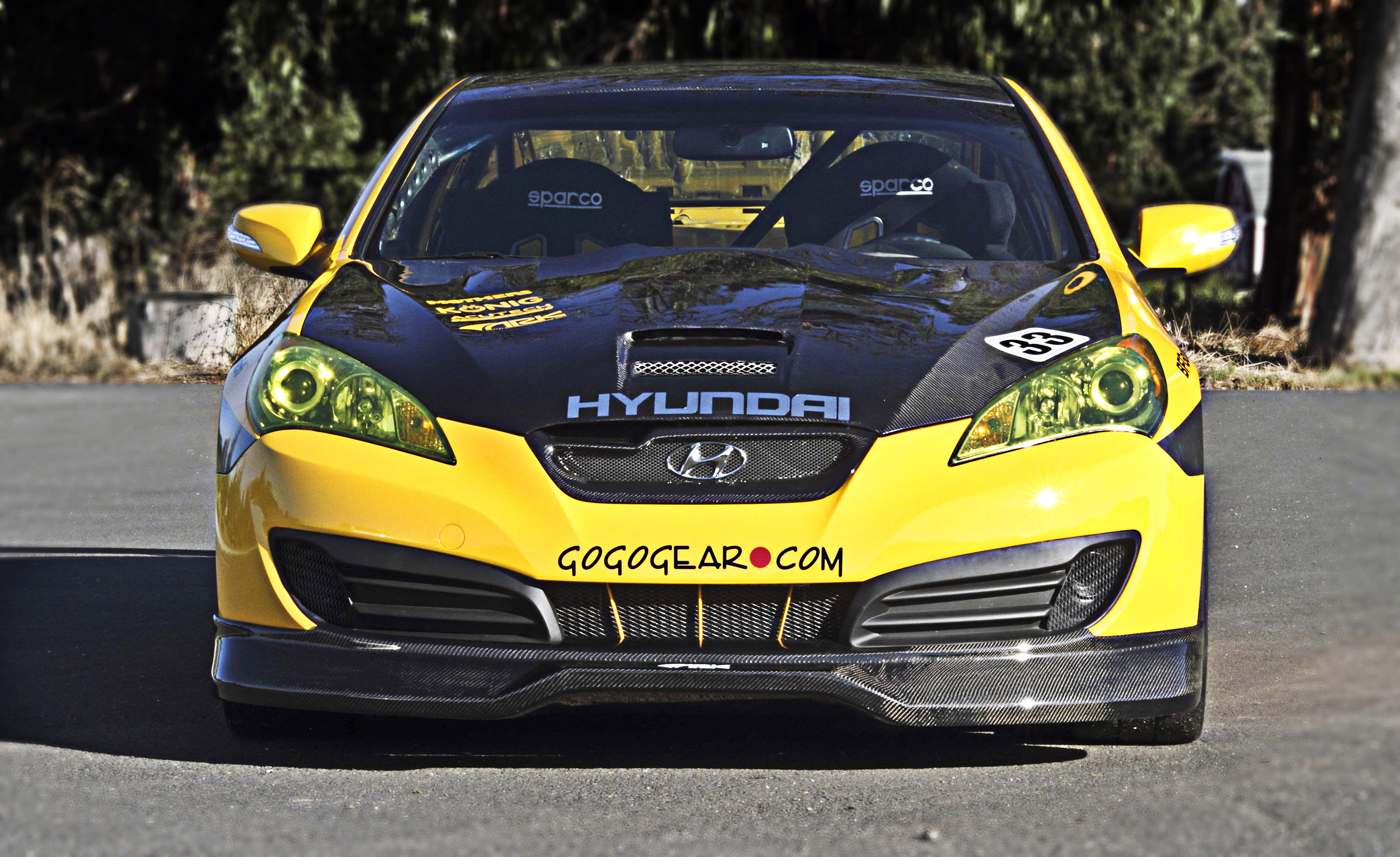 Hyundai Genesis Coupe Race Car At The Sema Show 2010