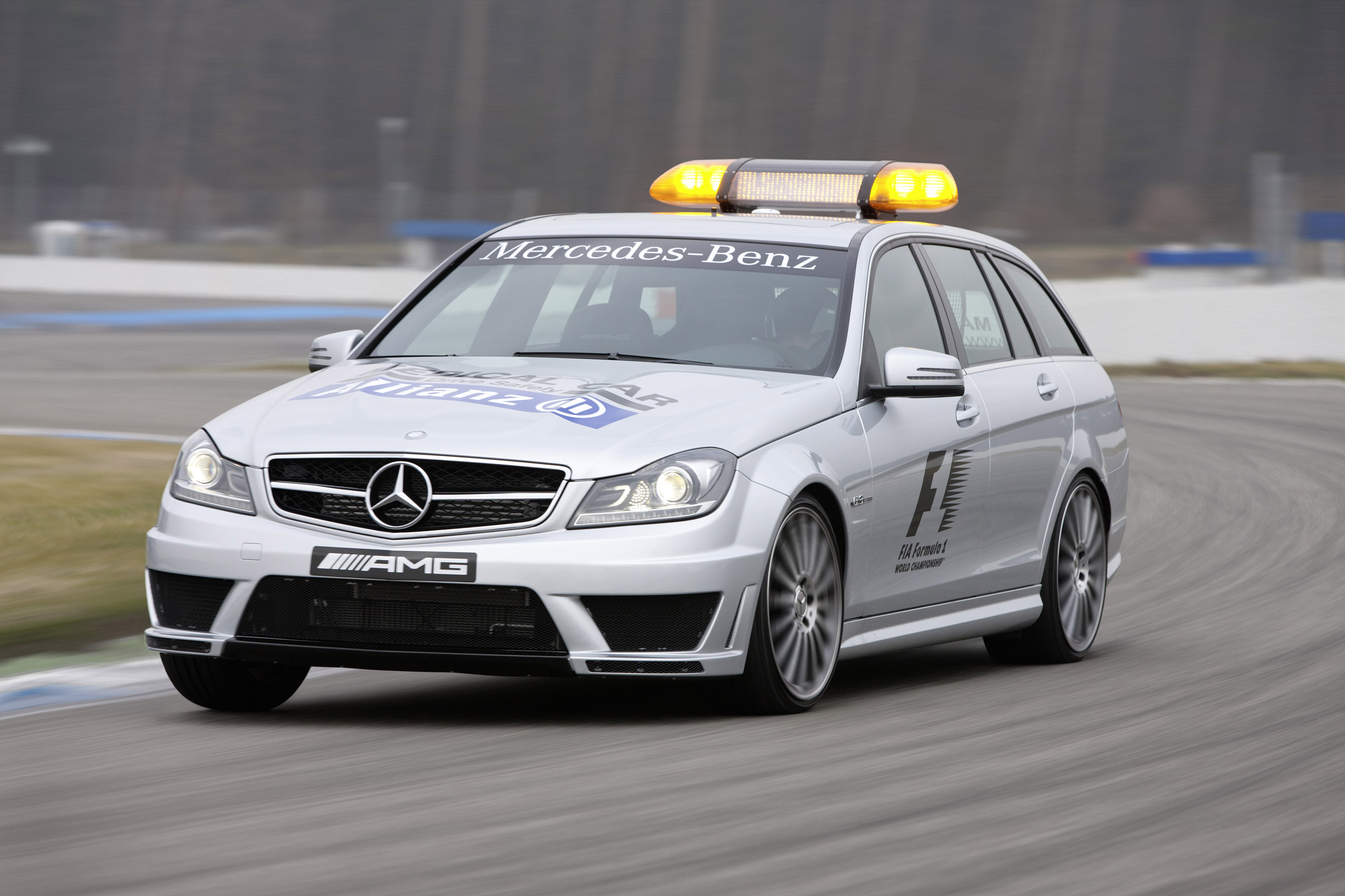 2012 mercedes benz c 63 amg and sls amg safety cars for Mercedes benz safety