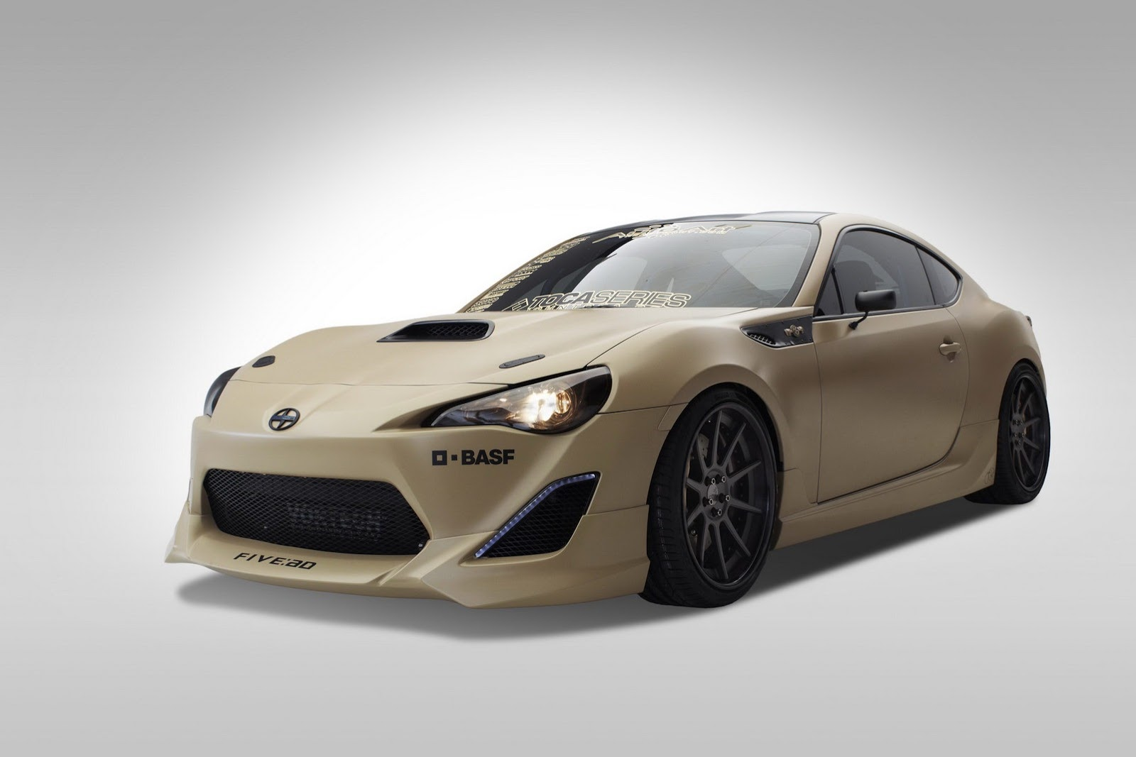 scion fr sema tuner modified challenge hood scoop frs brz subaru cars toyota custom stealth carbon toca trio front coupes