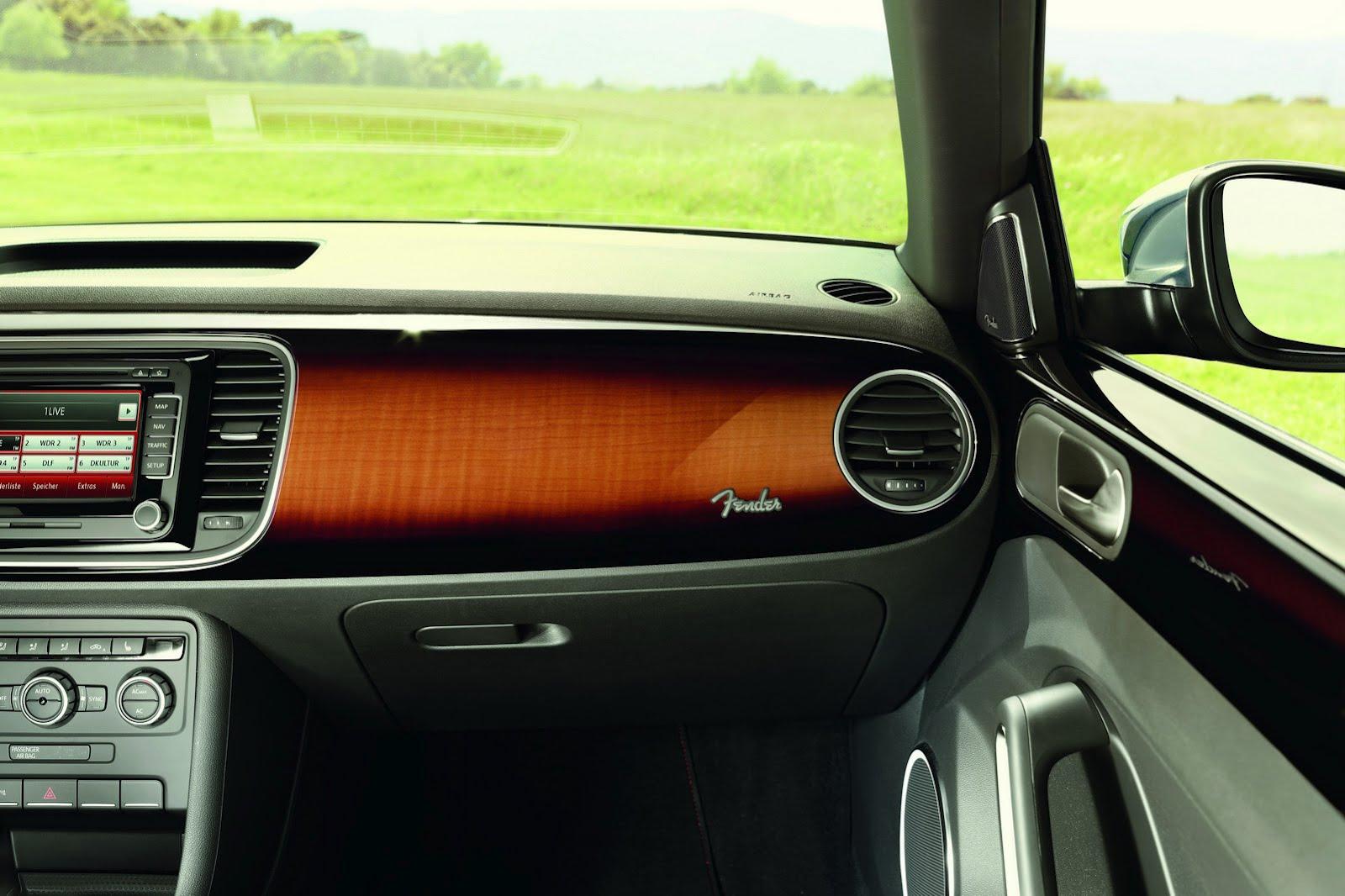 volkswagen beetle fender edition marries musical  automotive world