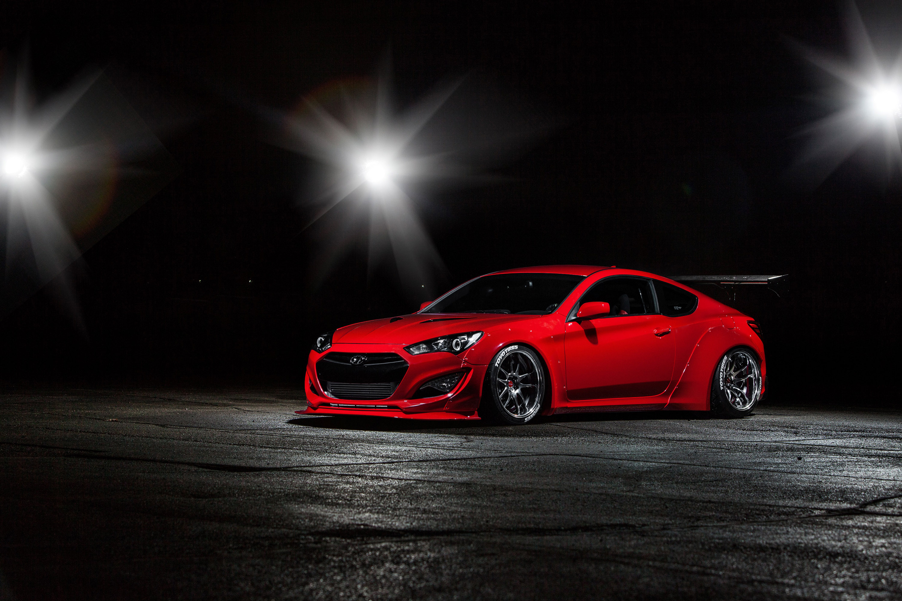 Btr Hyundai Genesis Coupe In Preparation For Sema Show