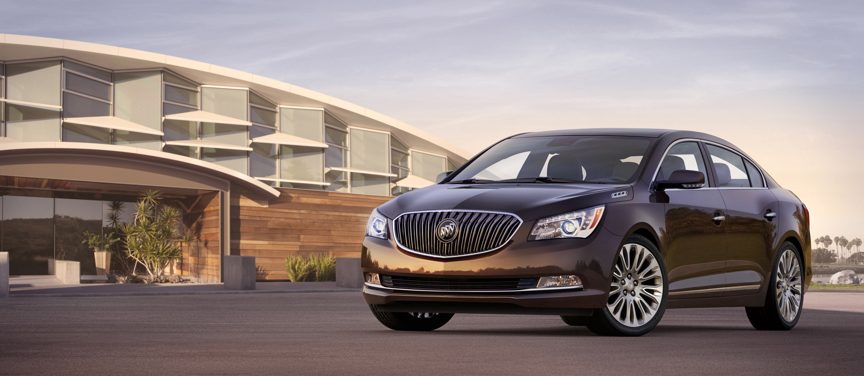 and lineup of buick vehicles new scenic ocean suvs a at sunset on for used trucks overlook owned the by cars sale pre key