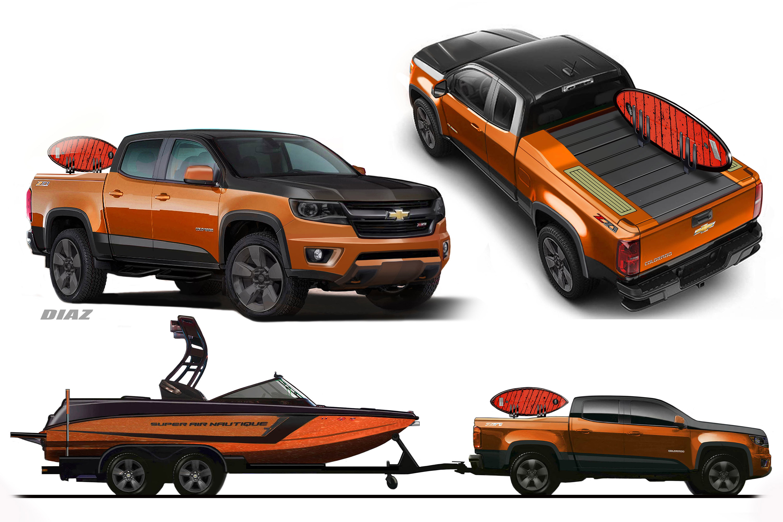 Sema Chevy Natique Concept Pairs Custom Colorado With