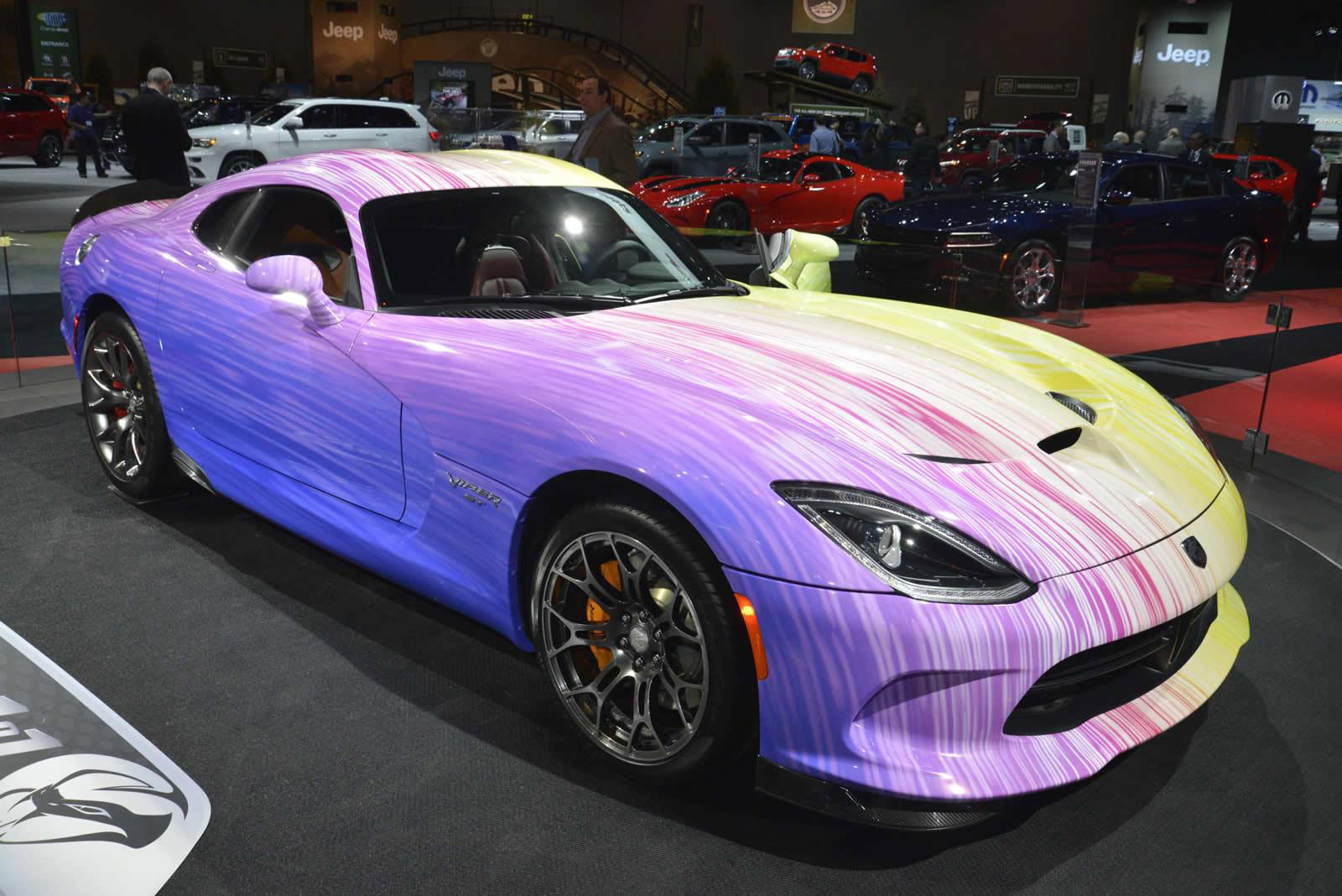 New Honda Pilot >> Psychodelic Dodge Viper GTC Revealed at 2015 Chicago Auto Show