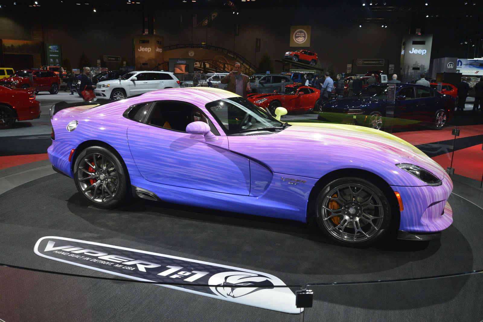 Honda Pilot Models >> Psychodelic Dodge Viper GTC Revealed at 2015 Chicago Auto Show