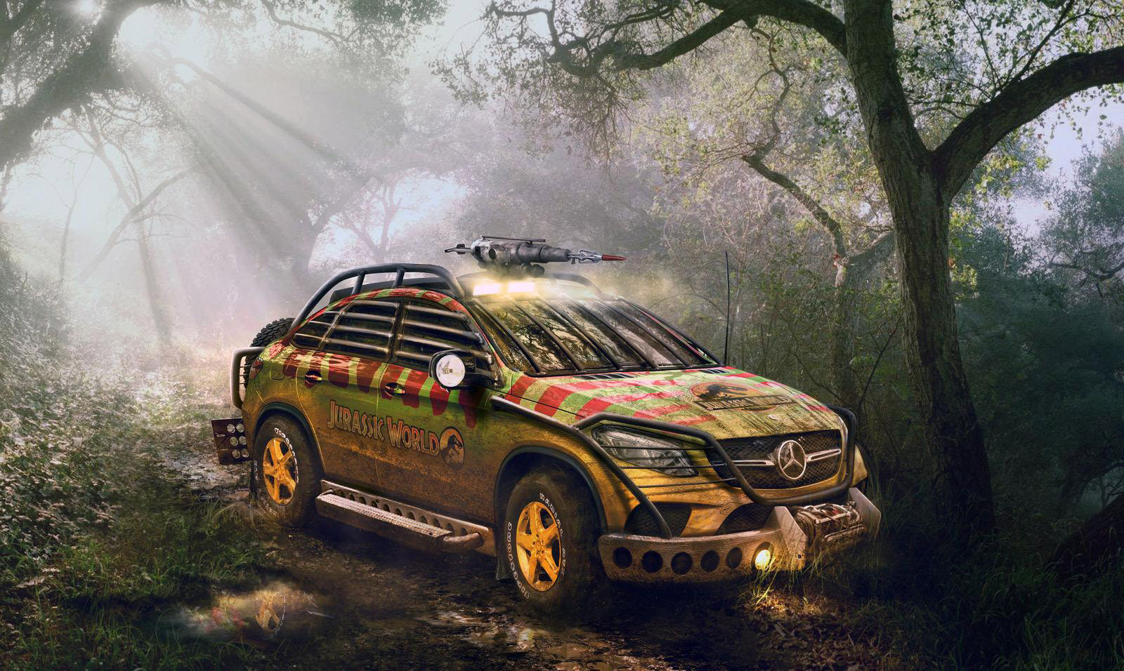 mercedes benz gle 450 amg scares with jurassic park makeover. Black Bedroom Furniture Sets. Home Design Ideas