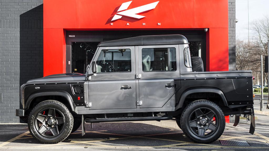 kahn reveals land rover defender xs 110 pick up in corris grey. Black Bedroom Furniture Sets. Home Design Ideas