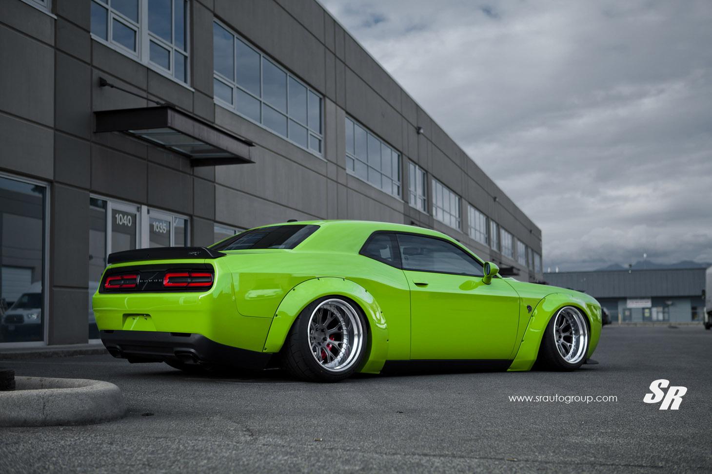 Liberty Walk Dodge Challenger Hellcat Goes Green