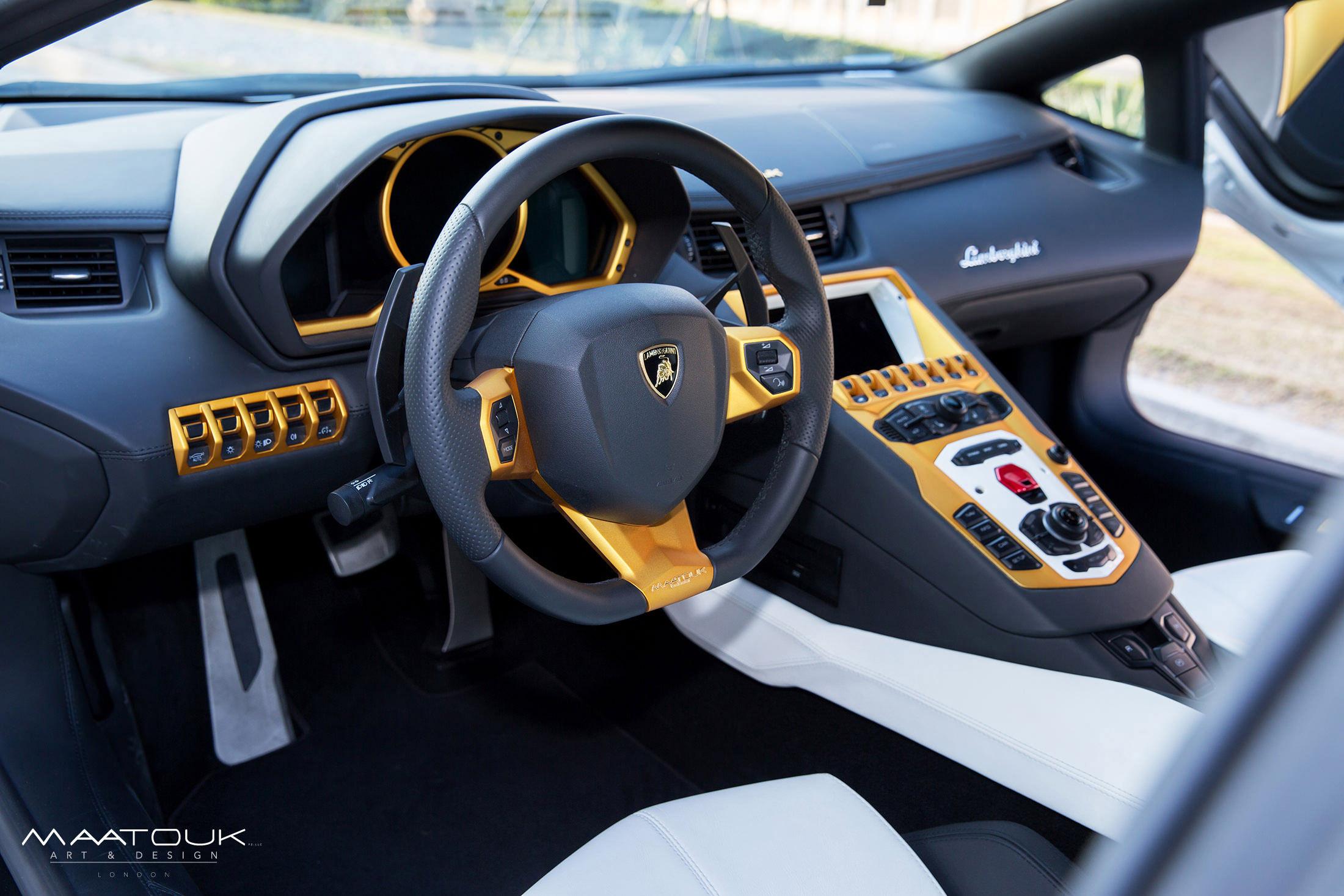 aventador roadster interior. maatouk design lamborghini aventador roadster interior