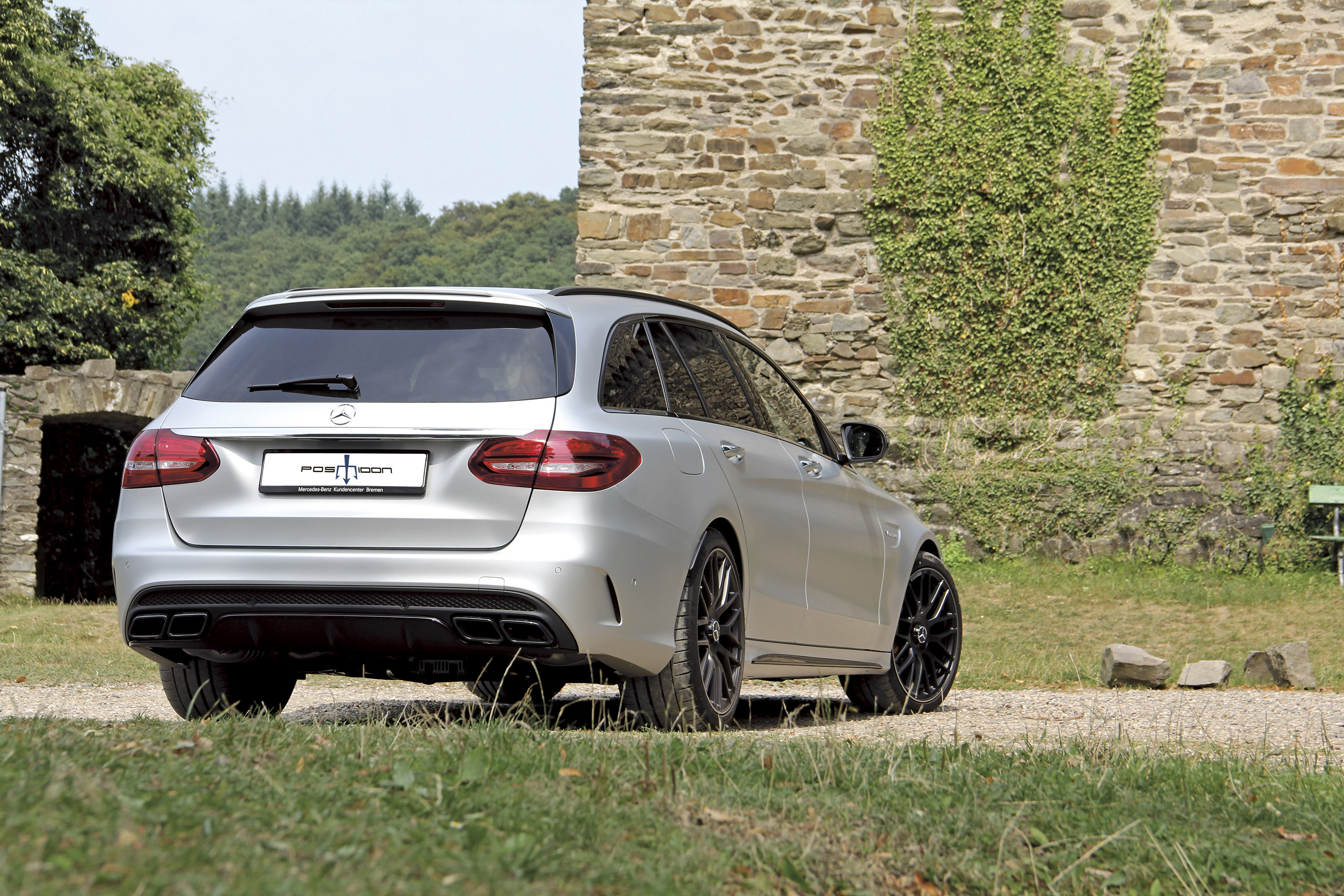 Posaidon uprates mercedes benz c63 amg station wagon for Mercedes benz c63 amg wagon