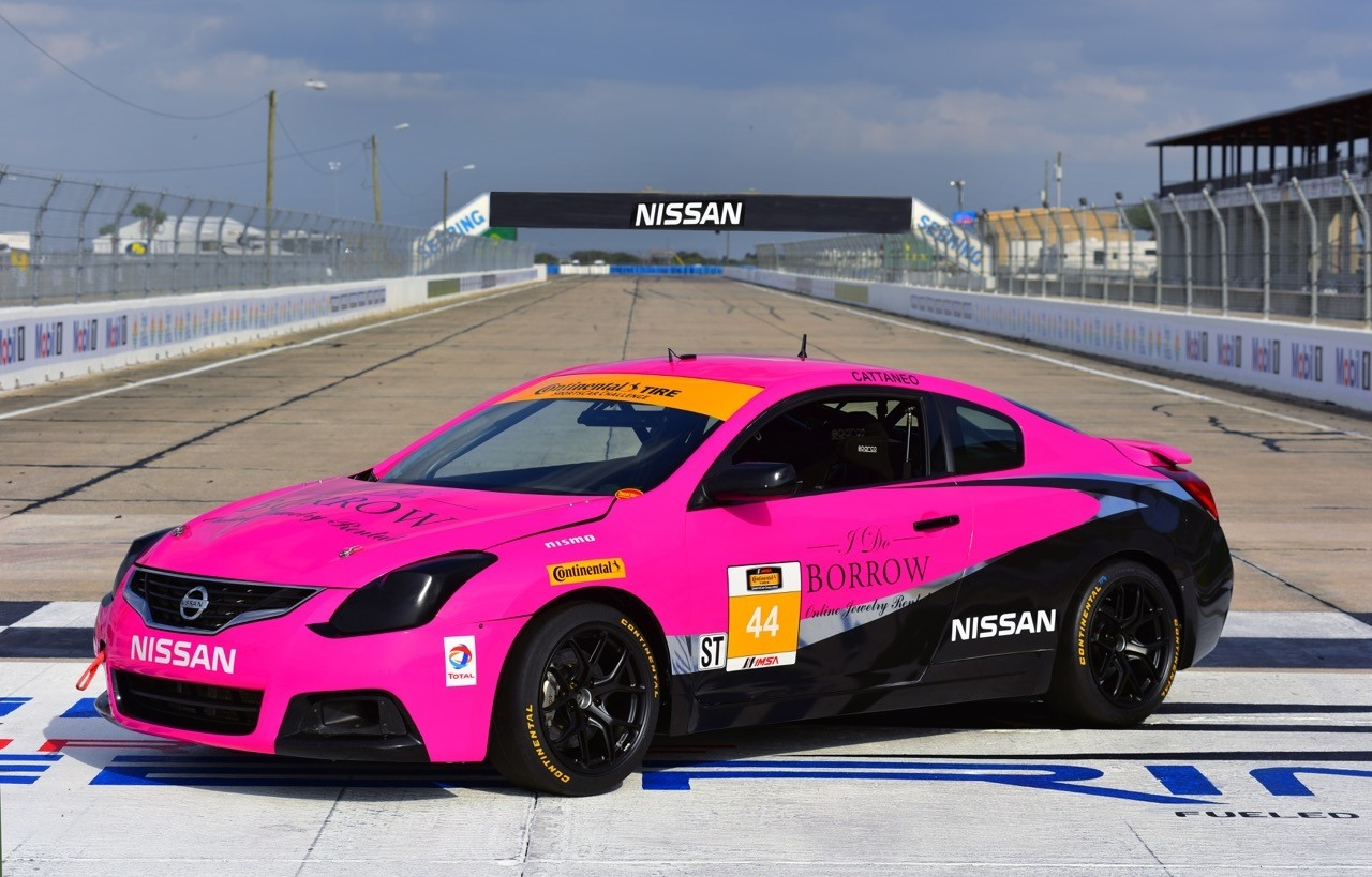 crg nissan altima coupe takes part in continental tire sportscar challenge. Black Bedroom Furniture Sets. Home Design Ideas