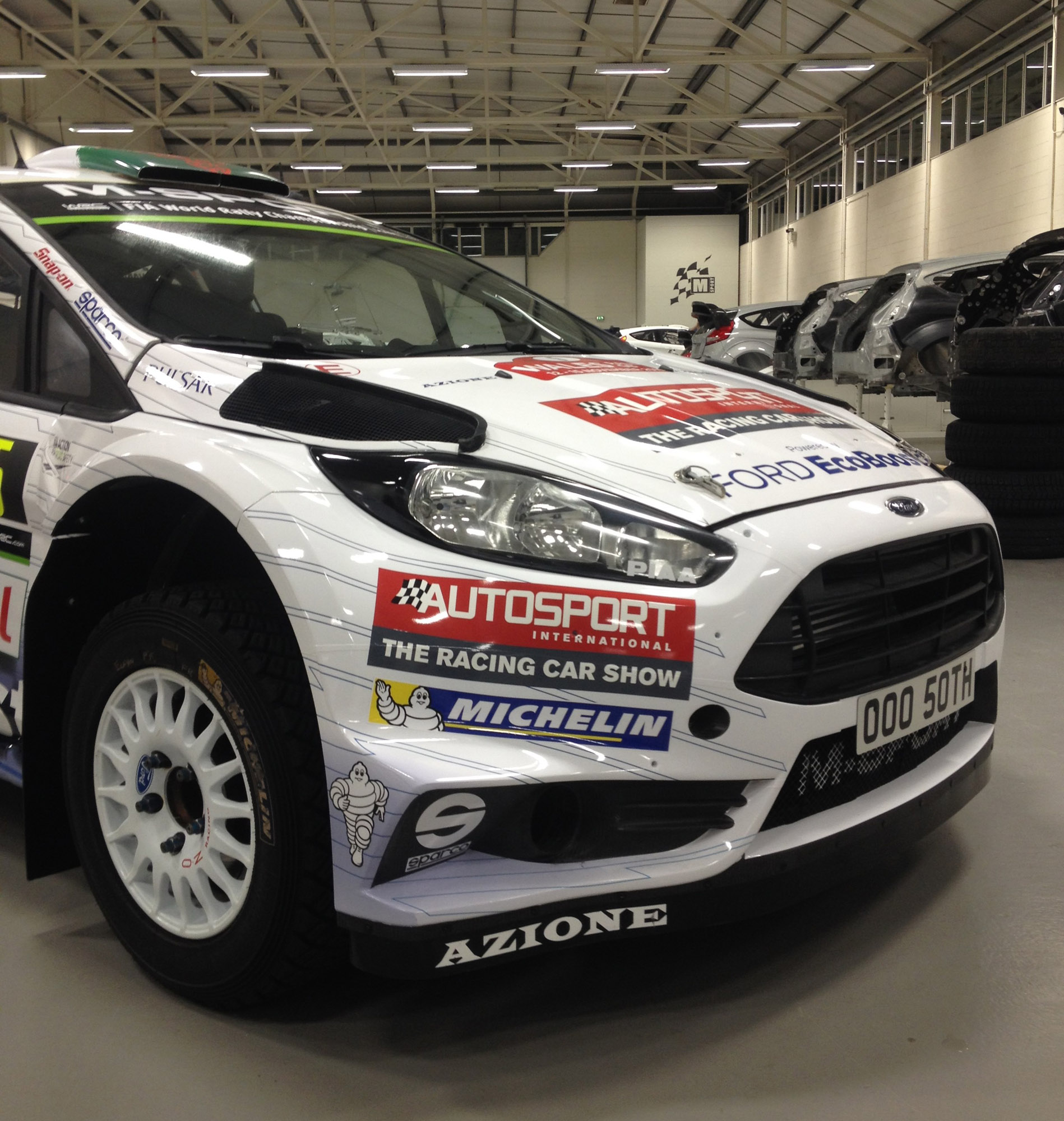 ford demonstrates the special fiesta rs wrc vehicle. Black Bedroom Furniture Sets. Home Design Ideas