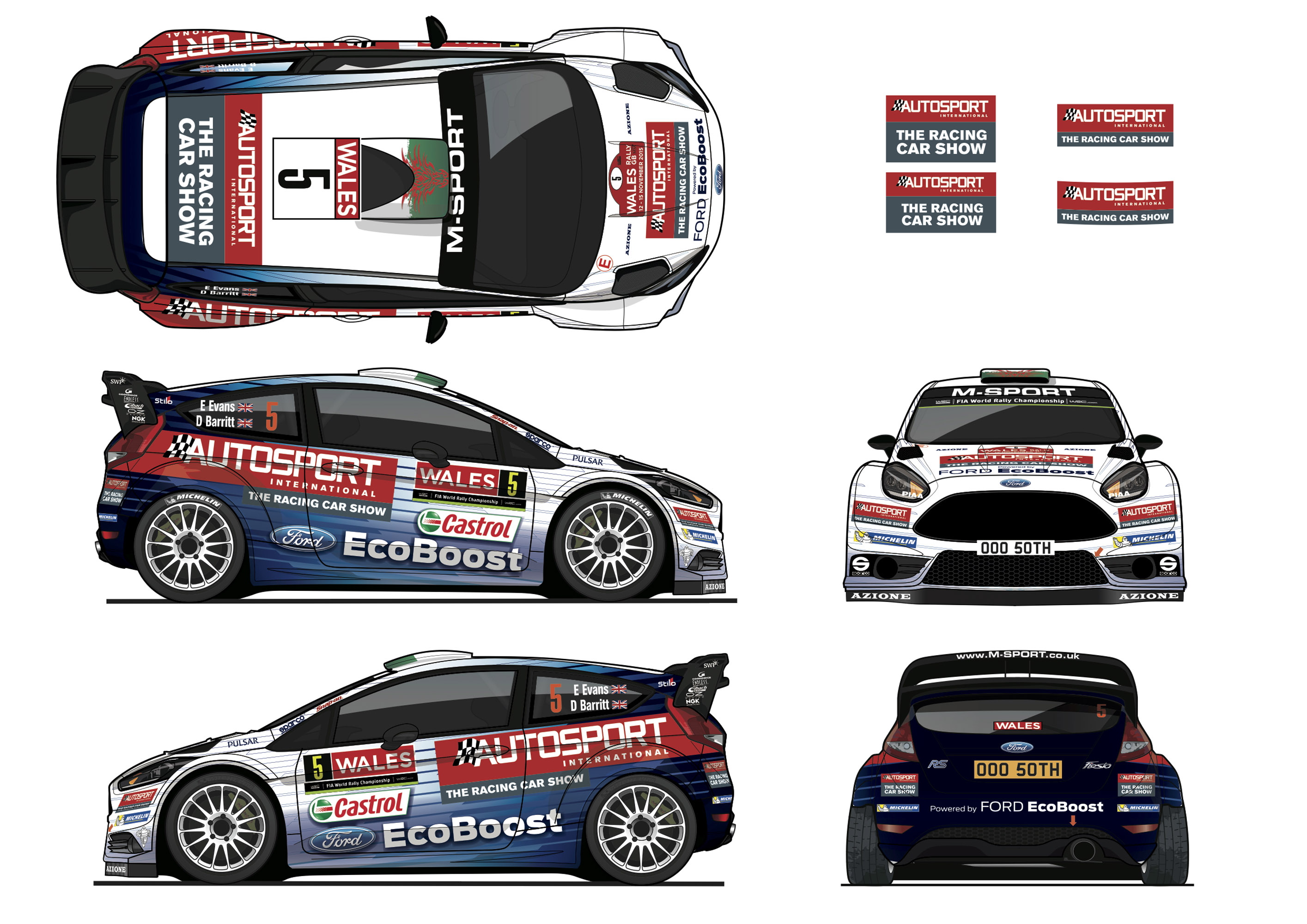 Ford Demonstrates The Special Fiesta Rs Wrc Vehicle