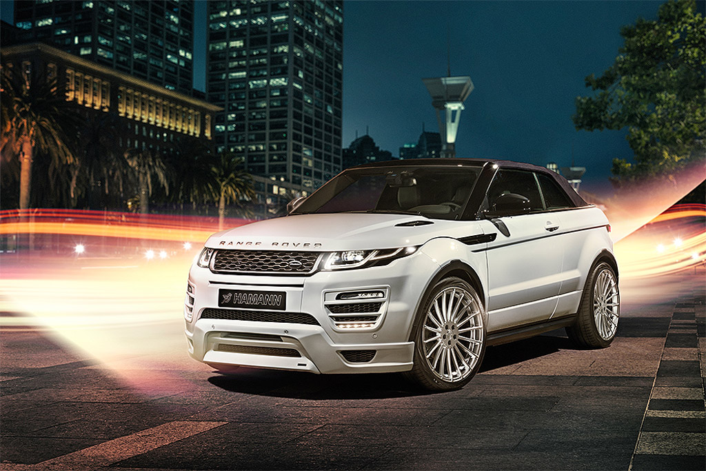 hamann releases range rover evoque convertible based tuning pack. Black Bedroom Furniture Sets. Home Design Ideas