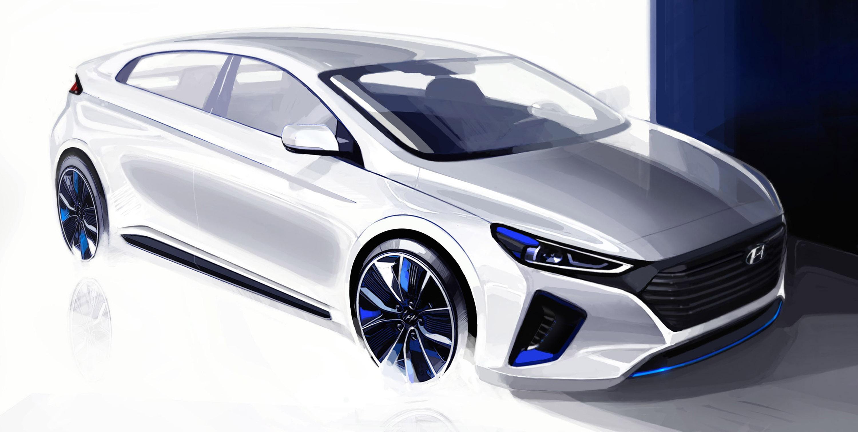 2016 Hyundai Ioniq Concept Sketches Picture 127976