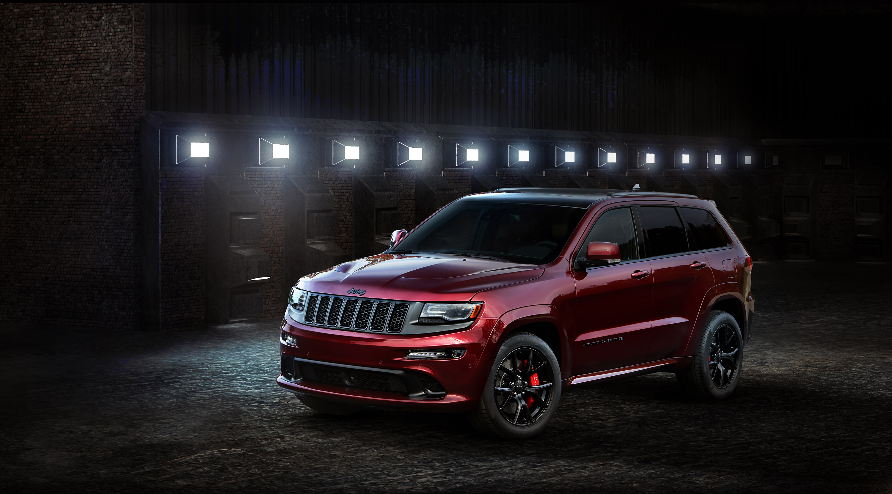 jeep wrangler backcountry grand cherokee srt night are main stars in l a. Black Bedroom Furniture Sets. Home Design Ideas