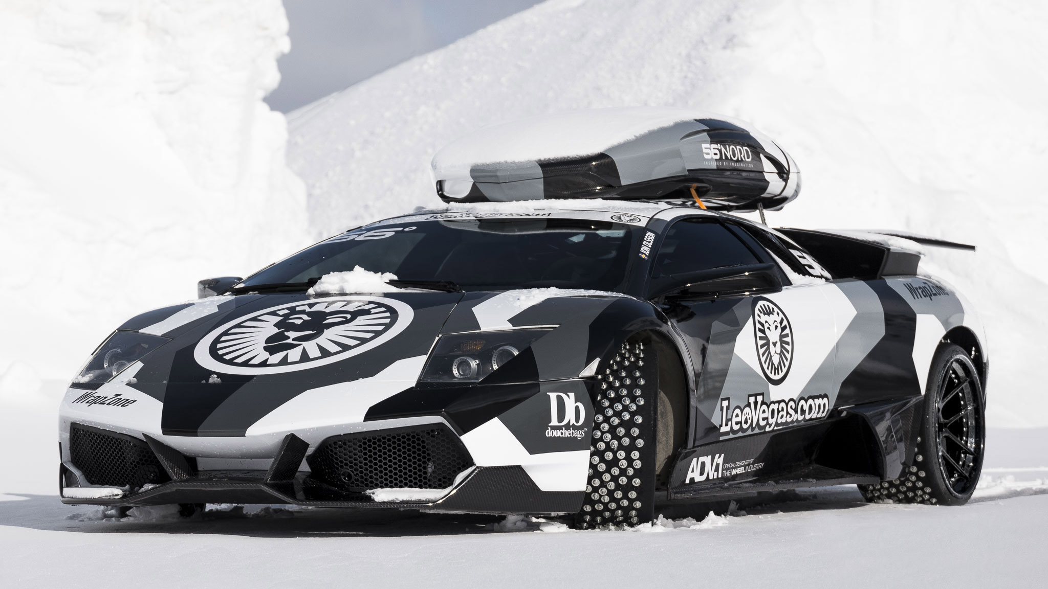 Jon Olsson Lamborghini Murcielago put to the extreme mountain ...