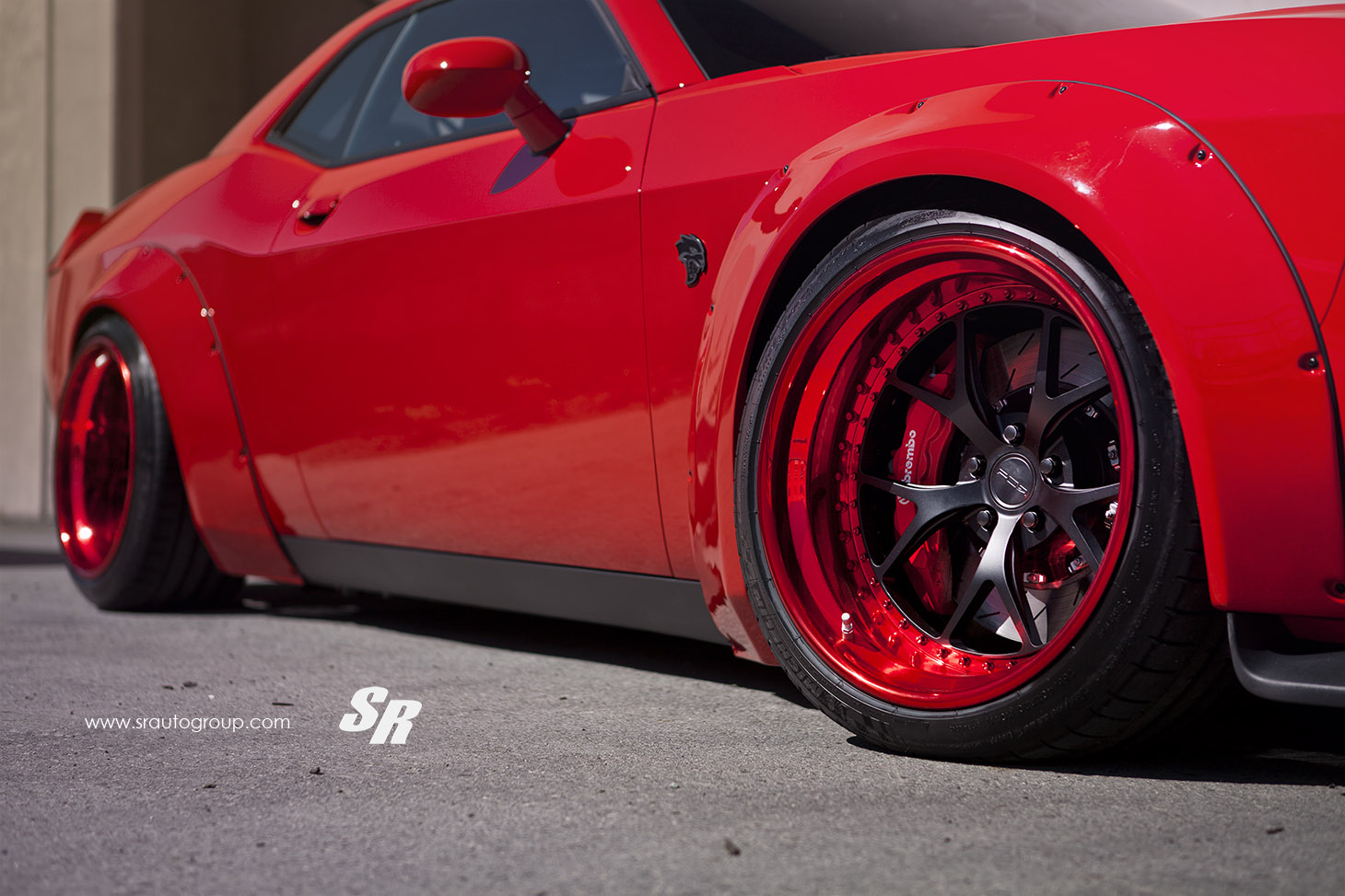 Liberty Walk Dodge Challenger Hellcat By Sr Auto Is Hell