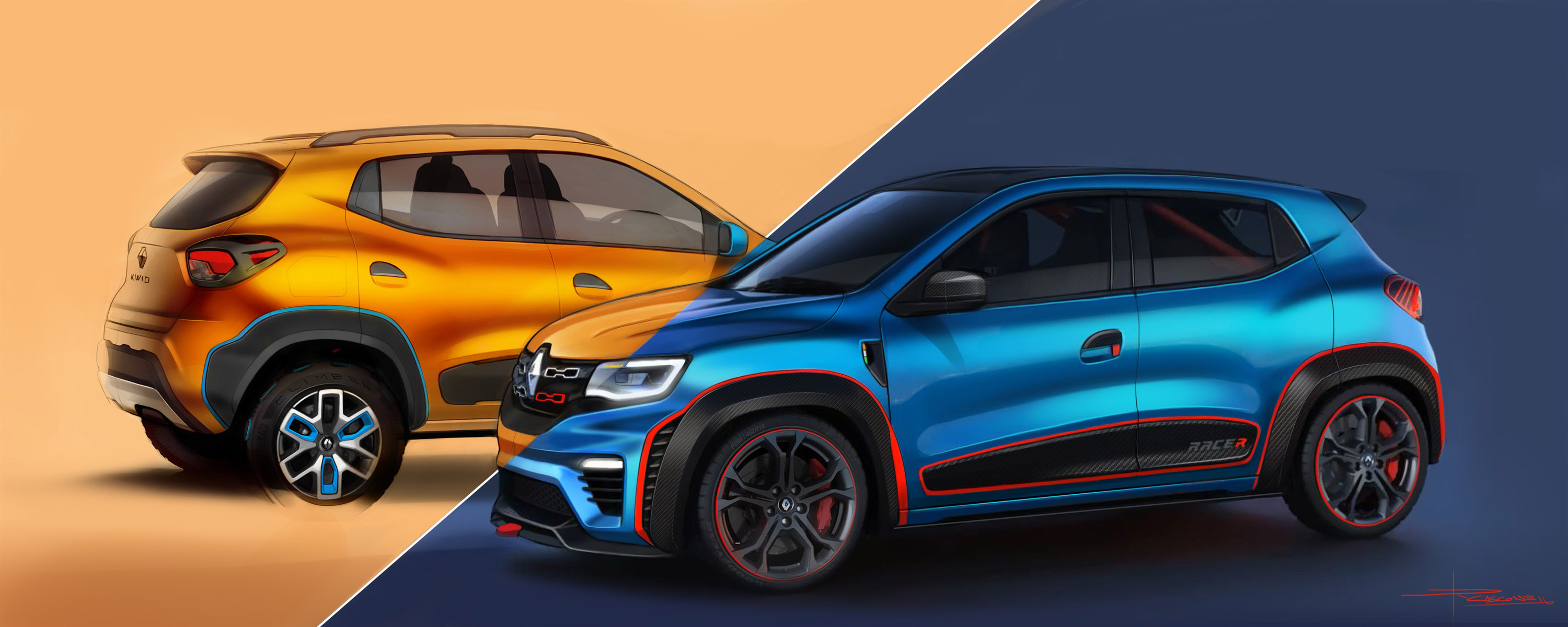 Renault Kwid Racer And Renault Kwid Climber Premiered At New Delhi Auto Show