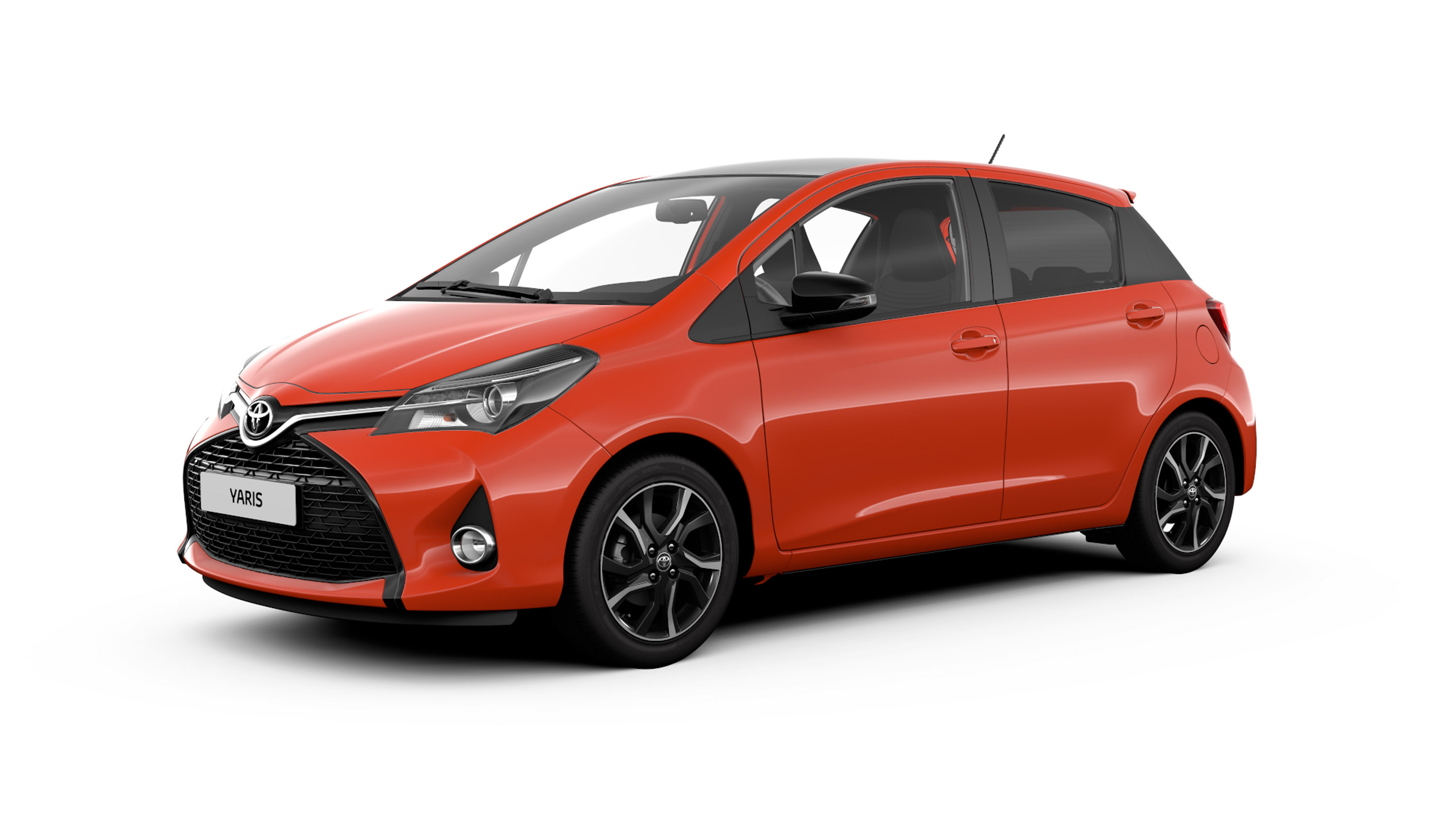 toyota reveals the yaris orange edition. Black Bedroom Furniture Sets. Home Design Ideas