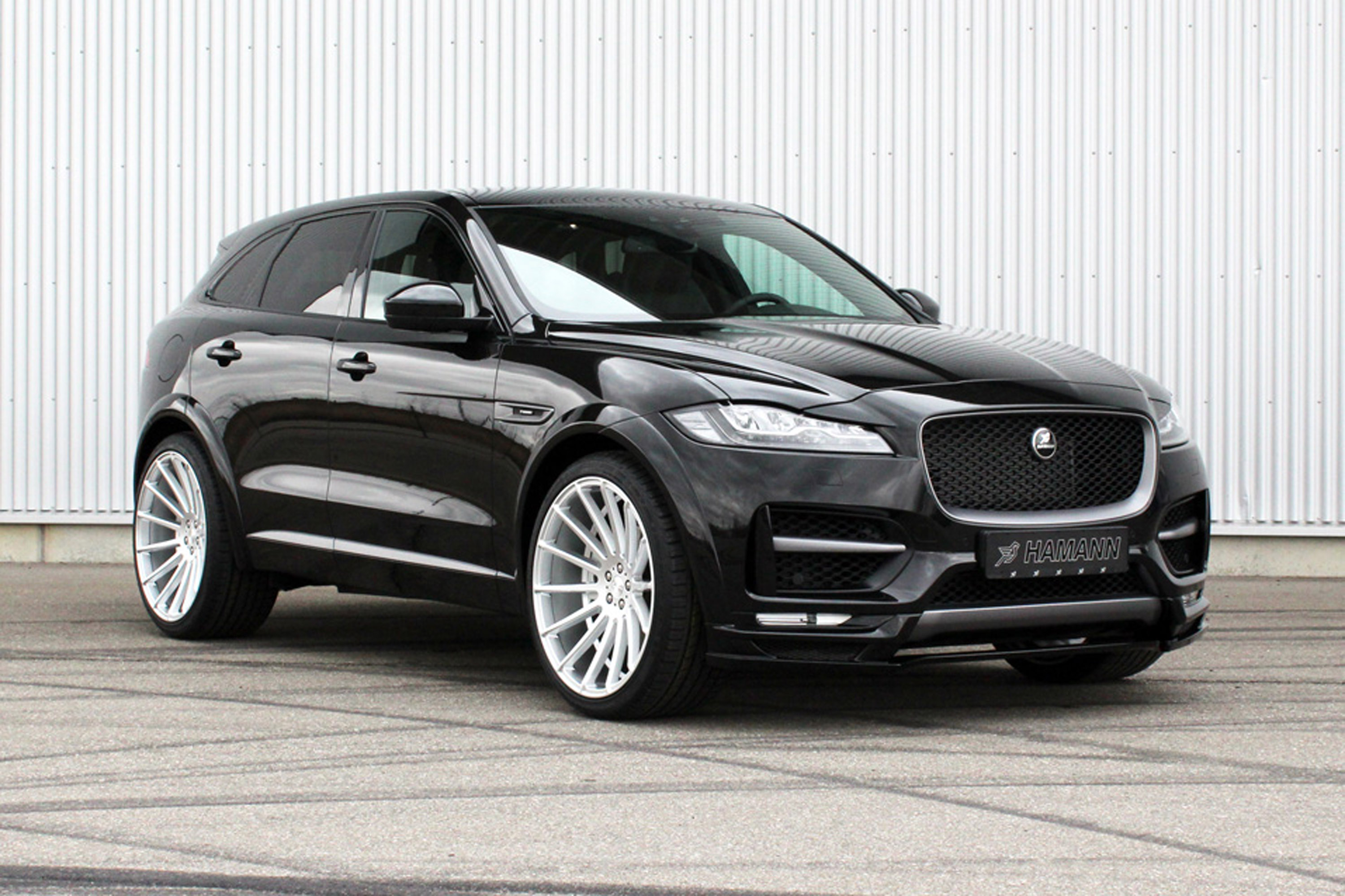 hamann team reveals a tweaked jaguar f pace suv. Black Bedroom Furniture Sets. Home Design Ideas