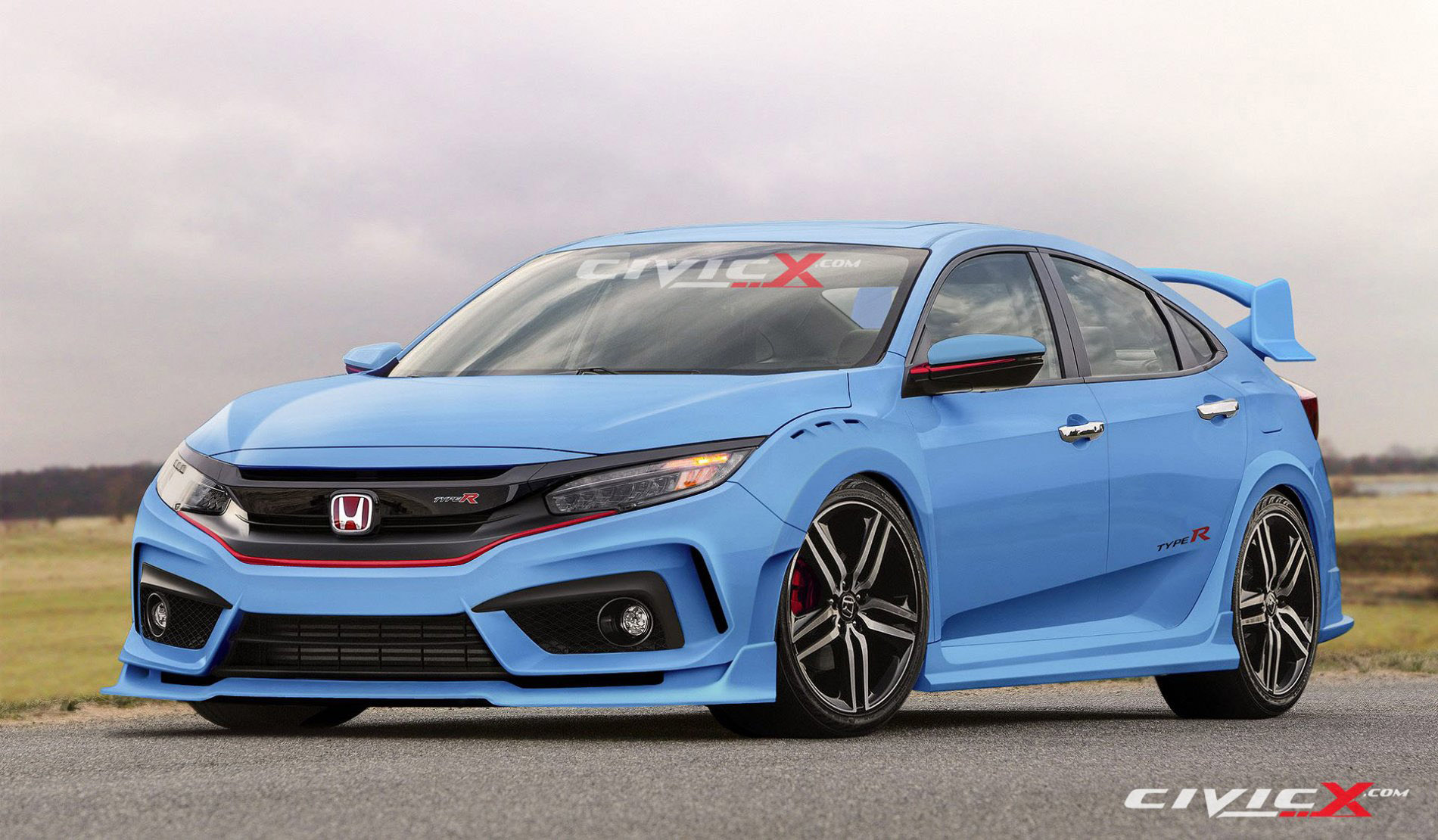 civicx imagines 2017 honda civic type r hatchback prototype. Black Bedroom Furniture Sets. Home Design Ideas