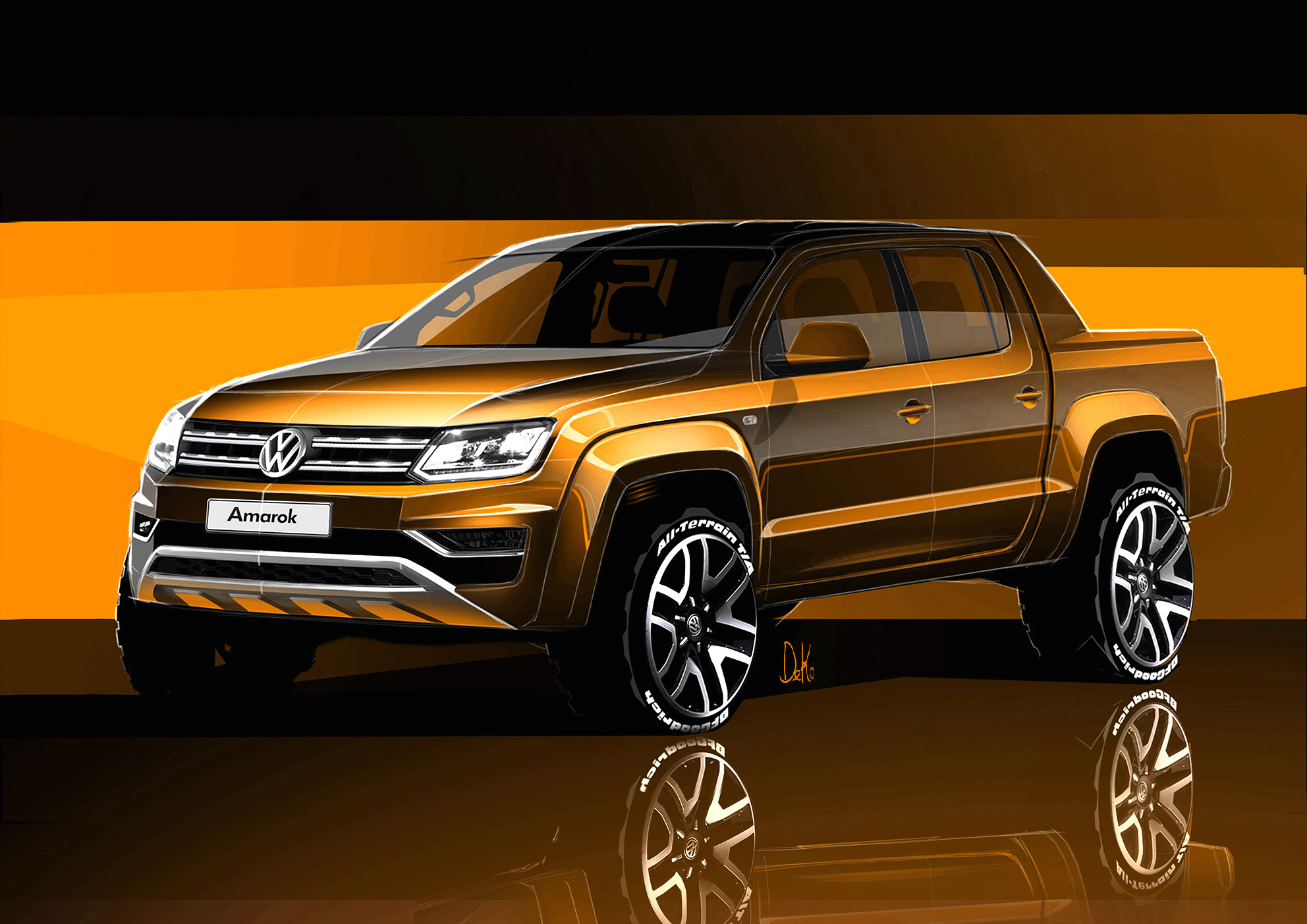 Vw Amarok Modified >> Volkswagen First Teaser Sketches of Amarok