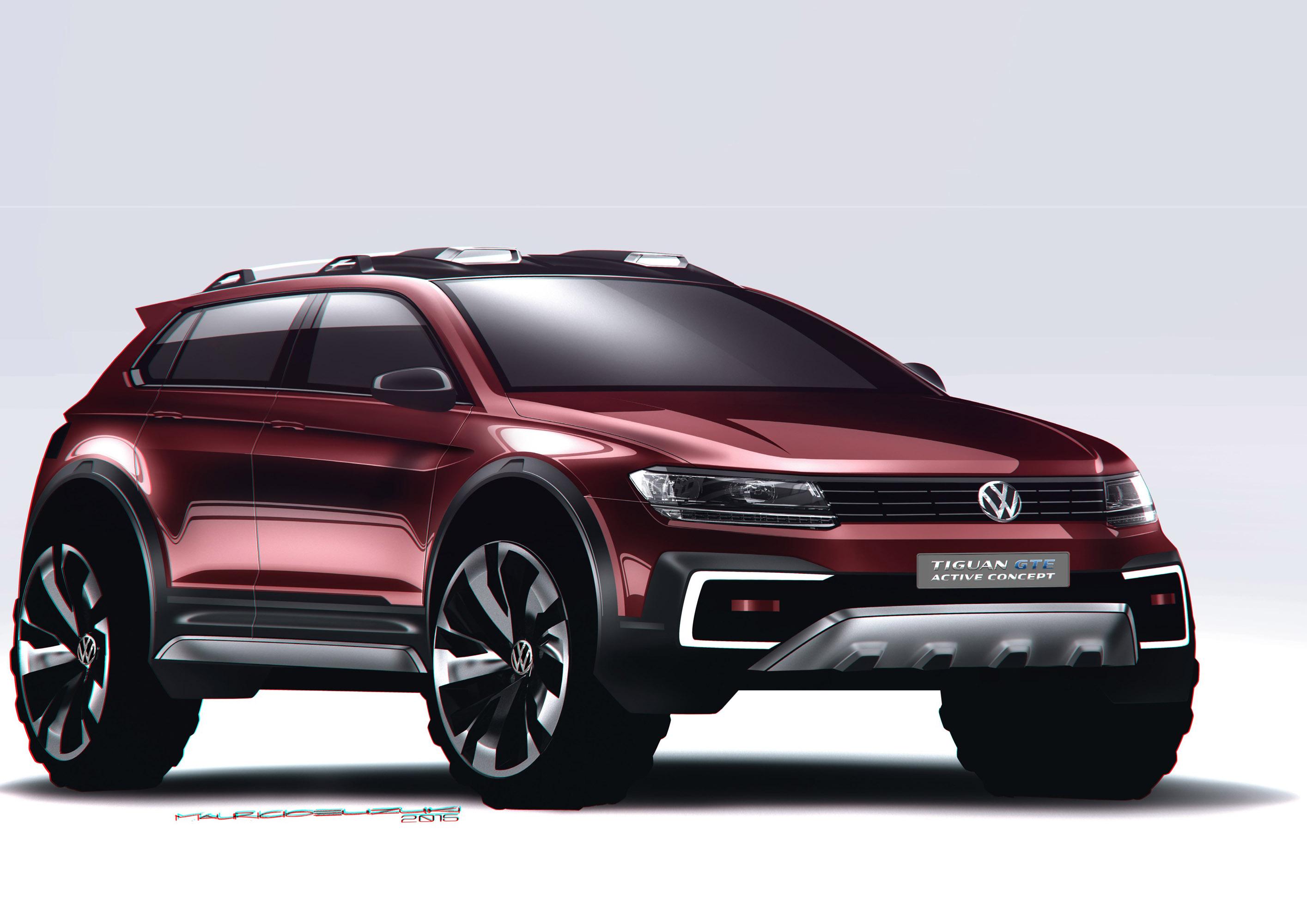 volkswagen introduces tiguan gte active concept