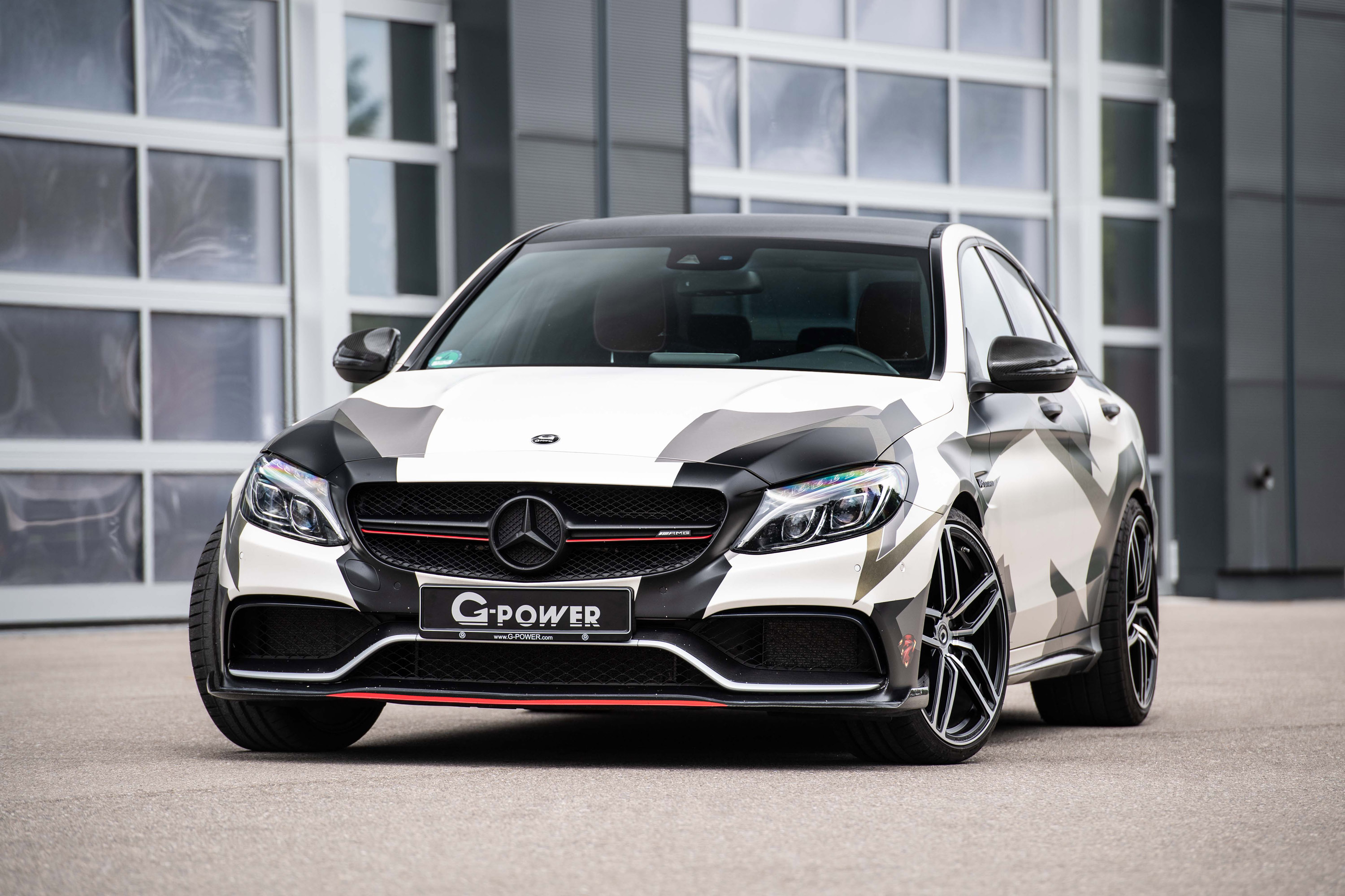 g power refines a mercedes amg c 63. Black Bedroom Furniture Sets. Home Design Ideas