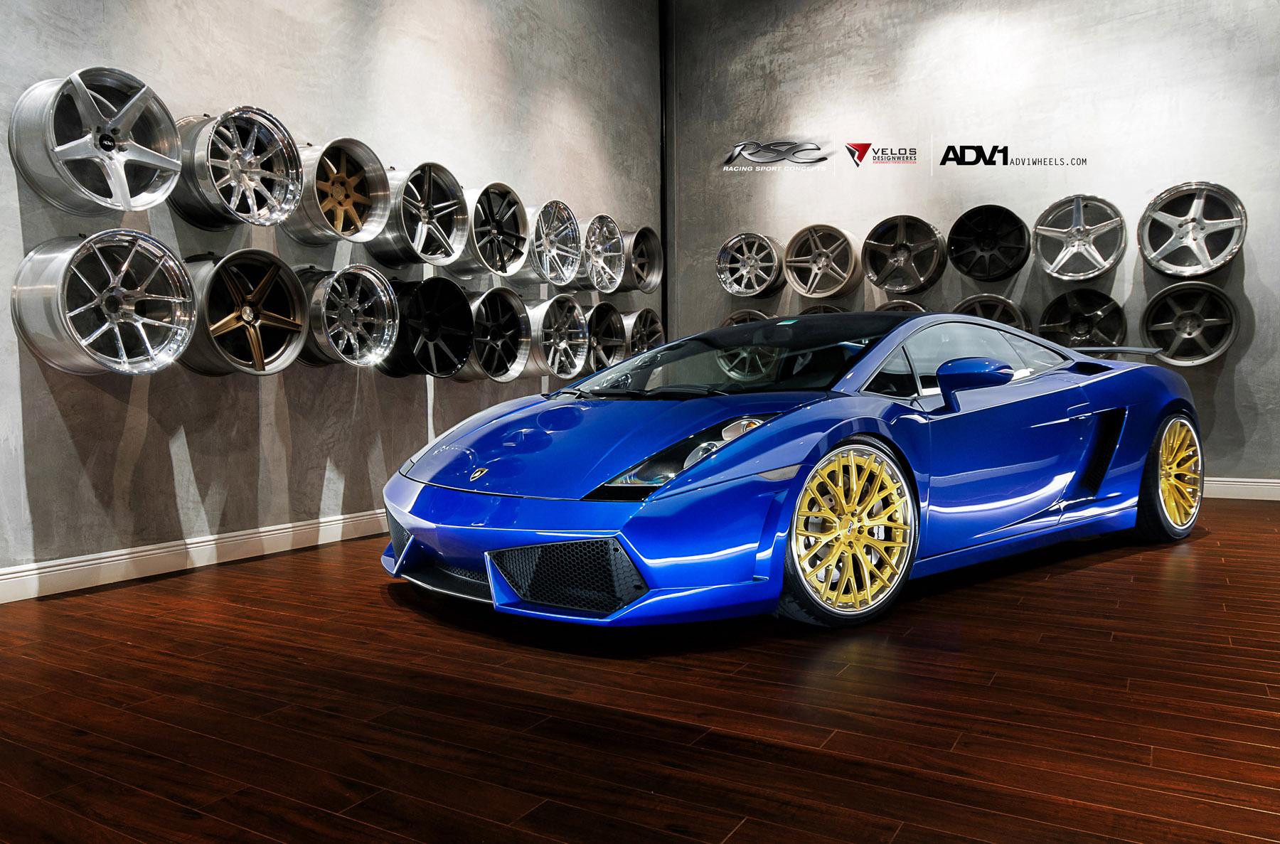Adv 1 Wheels Lamborghini Gallardo Adv10 0ts Sl Gold Edition