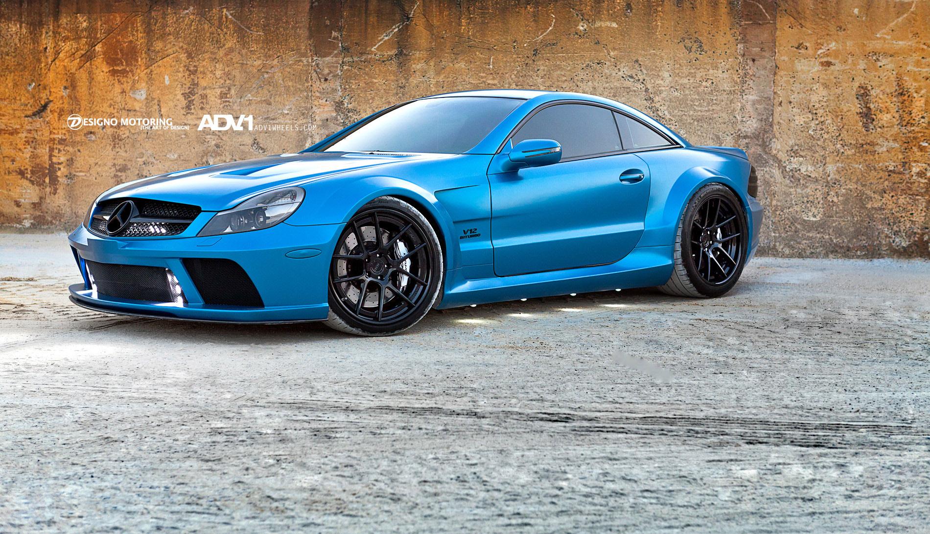 Mercedes-Benz синий гараж бесплатно
