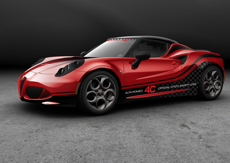 alfa romeo 4c safety car for 2014 wtcc. Black Bedroom Furniture Sets. Home Design Ideas