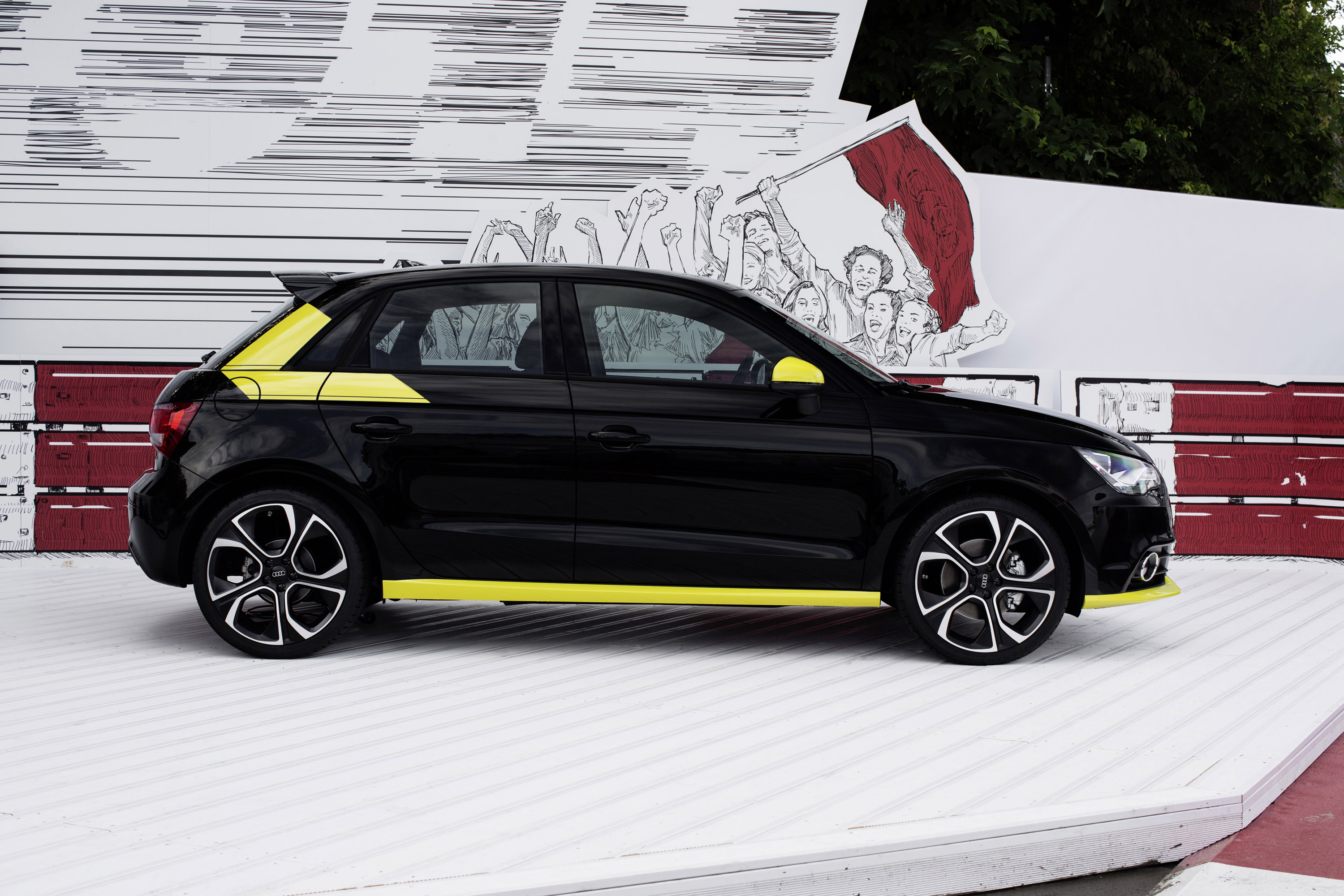 audi a1 sportback custom s3 cabrio q3 and sq5 at worthersee. Black Bedroom Furniture Sets. Home Design Ideas