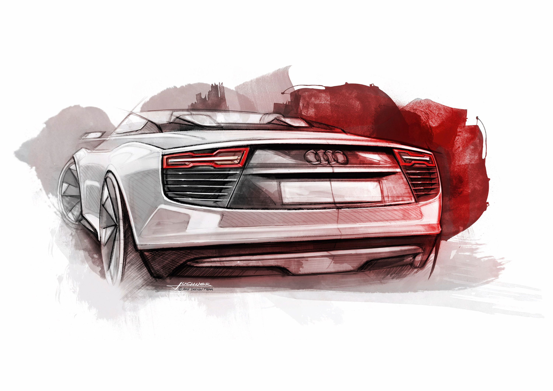 Audi E Tron Spyder Sketches Picture 42929
