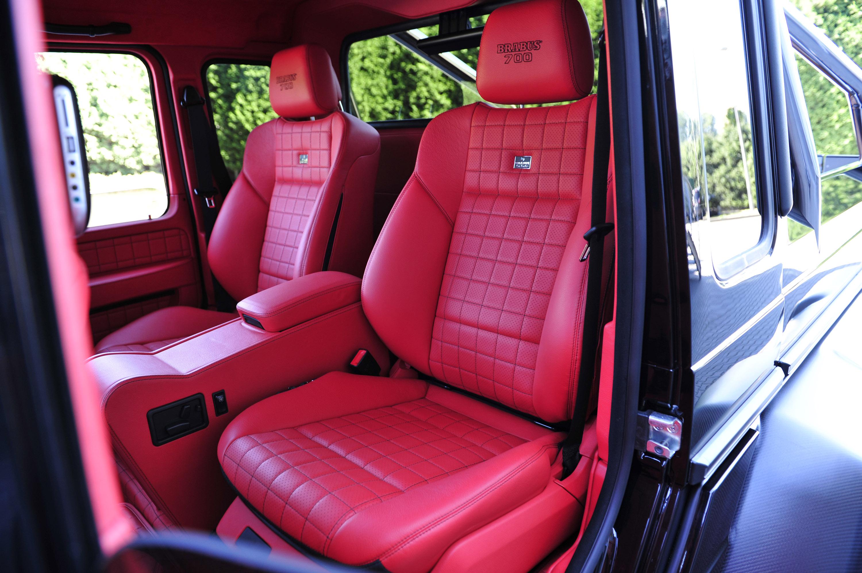 brabus b63s mercedes benz g class 6x6 - G Wagon Red Interior
