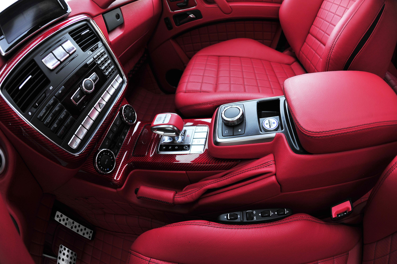 brabus b63s mercedes benz g class 6x6 25 of 25 - White G Wagon Red Interior
