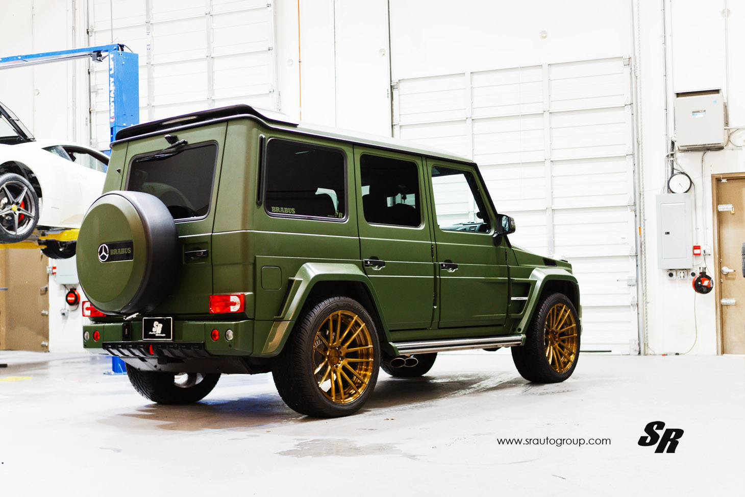 Brabus Mercedes Benz Amg G63 Gets Military Green Exterior