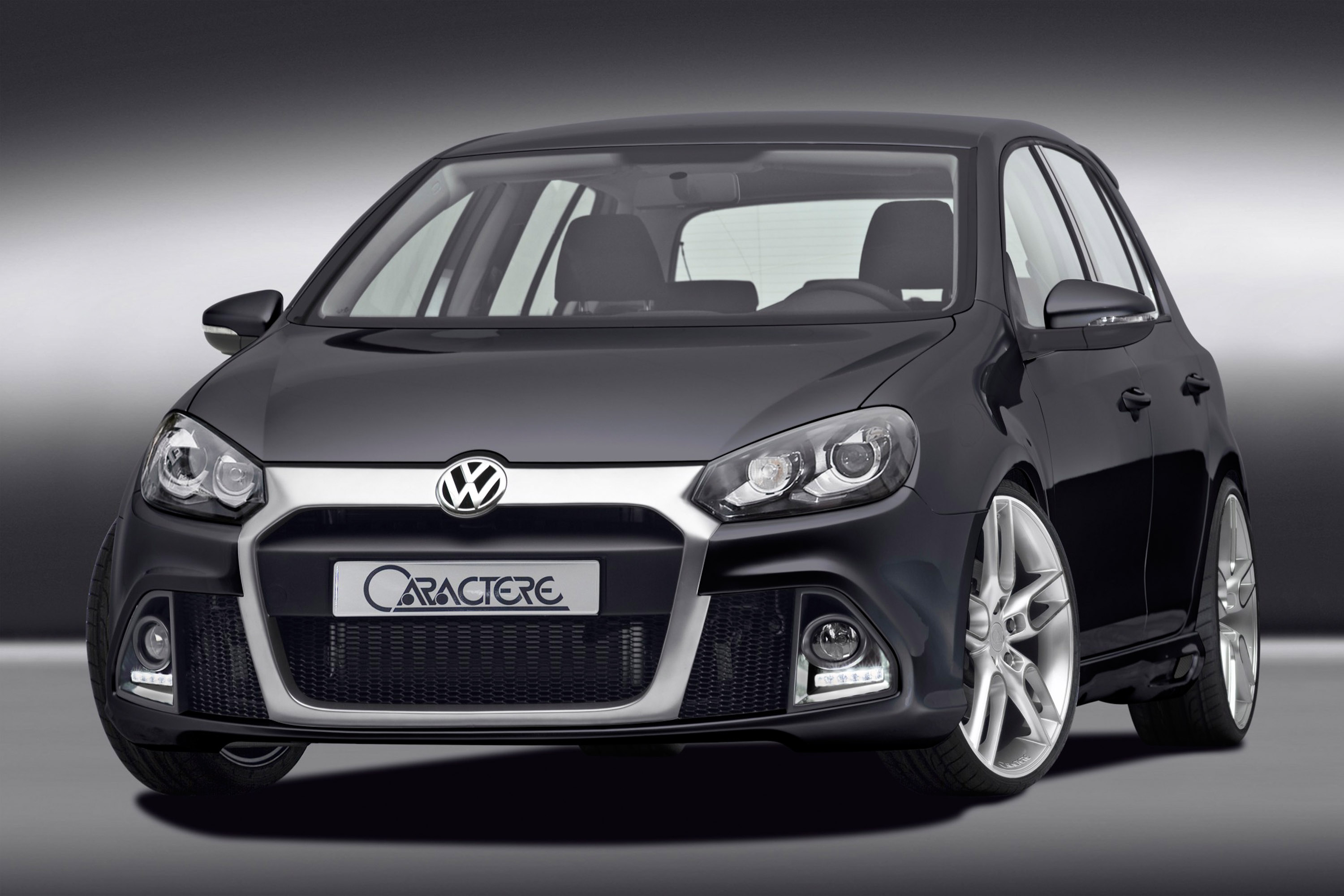 caractere improves visually the vw golf 6 gti. Black Bedroom Furniture Sets. Home Design Ideas