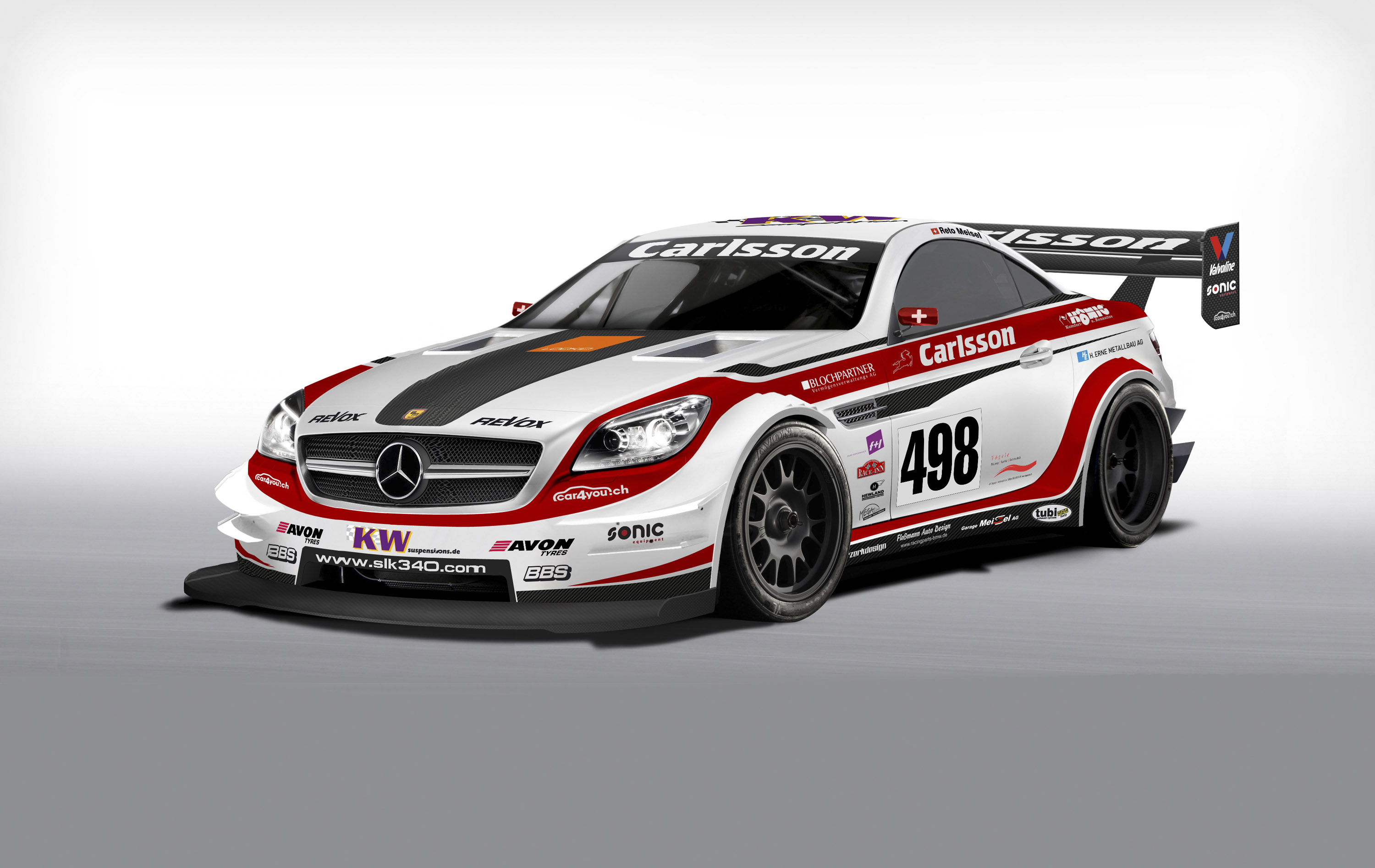 carlsson mercedesbenz slk 340 race car revealed in geneva