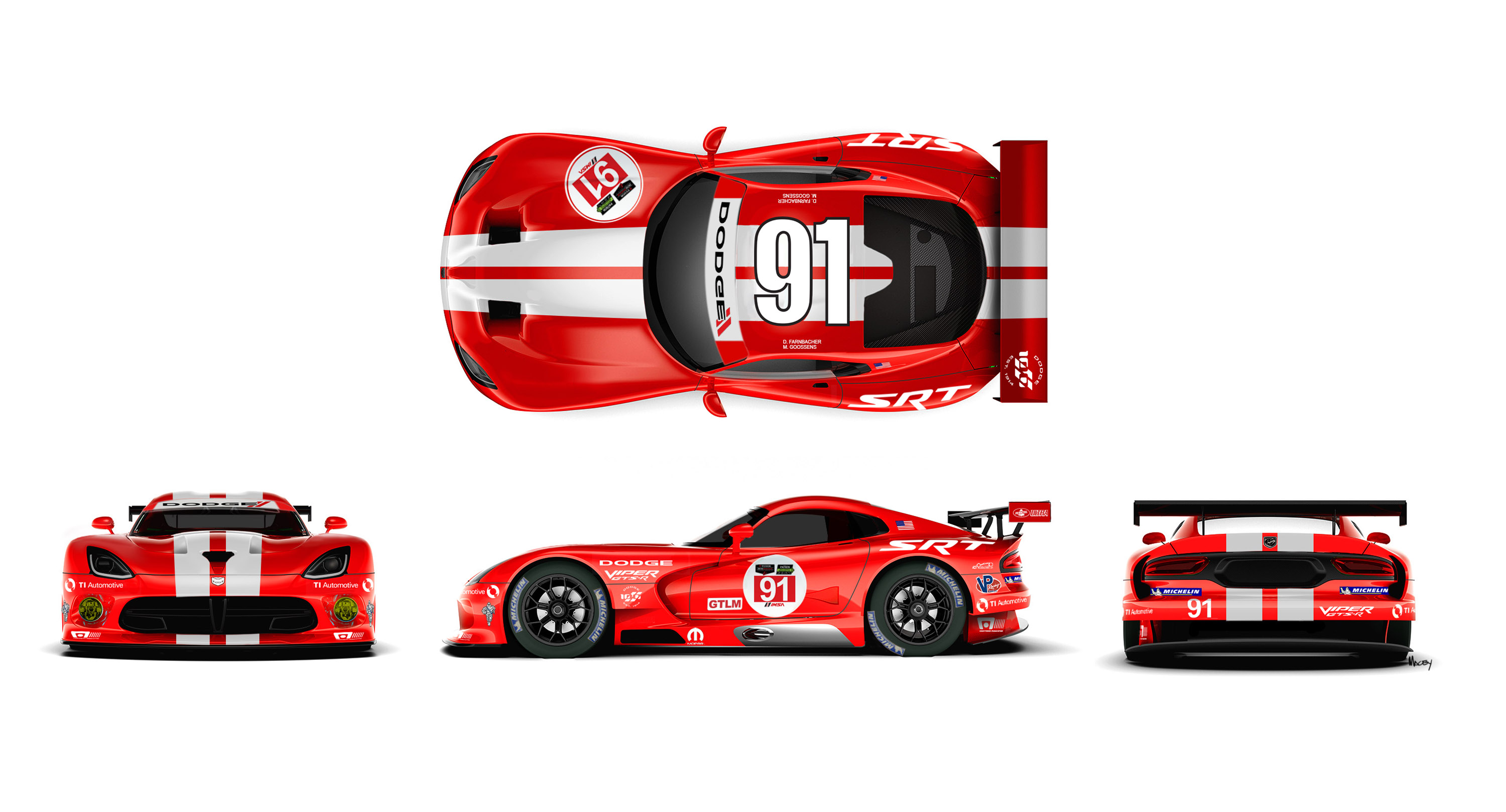 two dodge viper srt gts rs get new livery
