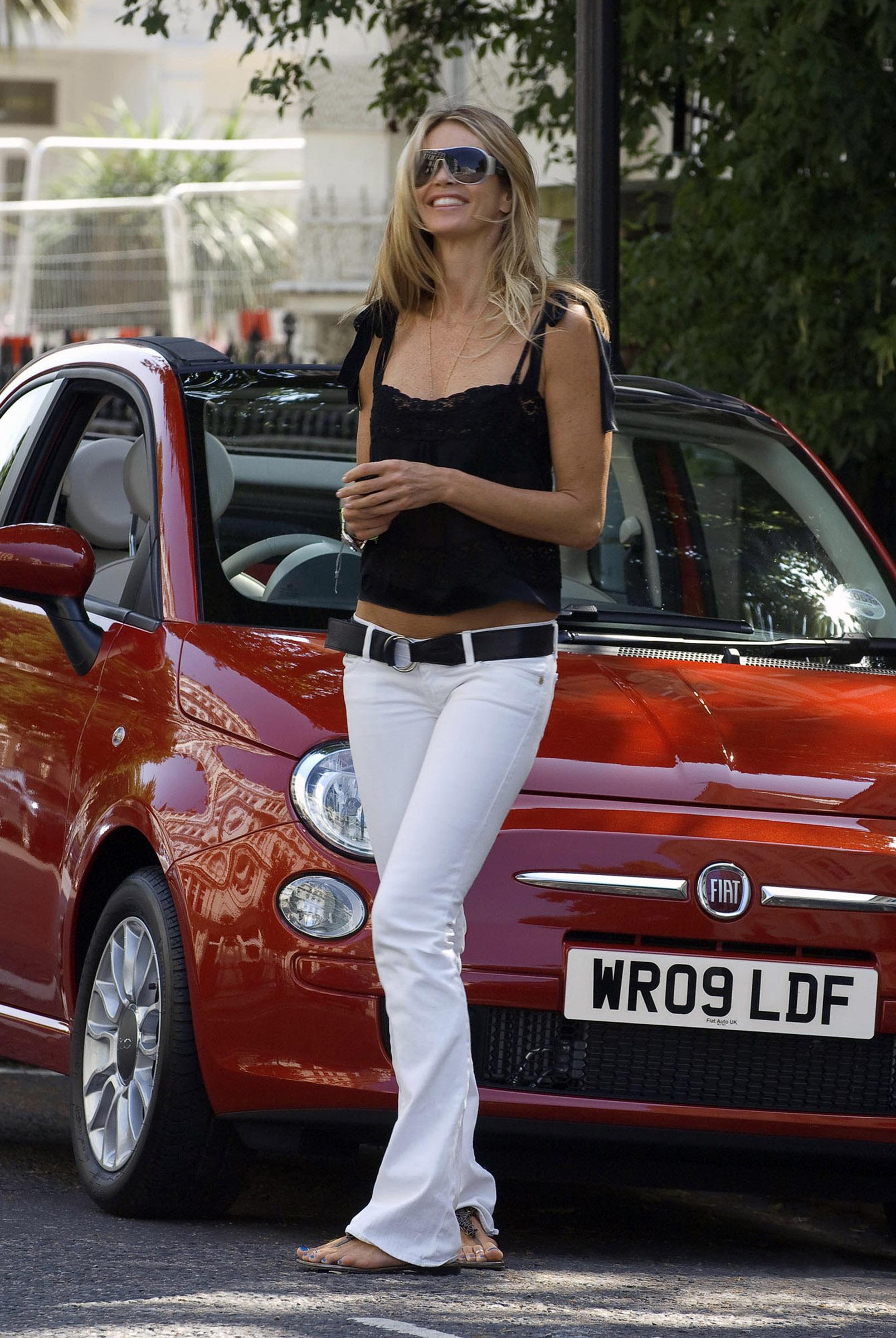 photo of Elle Macpherson Fiat 500 - car
