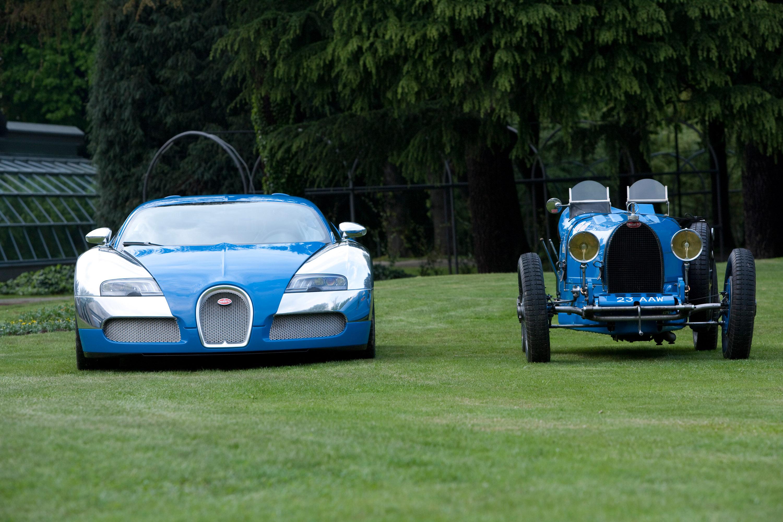 Bugatti Veyrons And Type Grand Prix