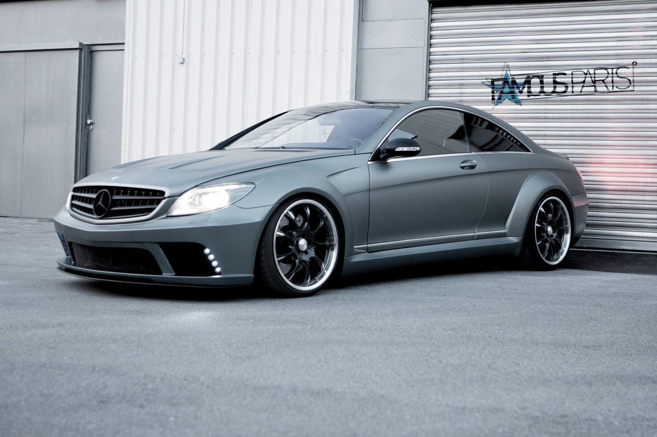 famous parts mercedes benz cl63 amg black edition wide body