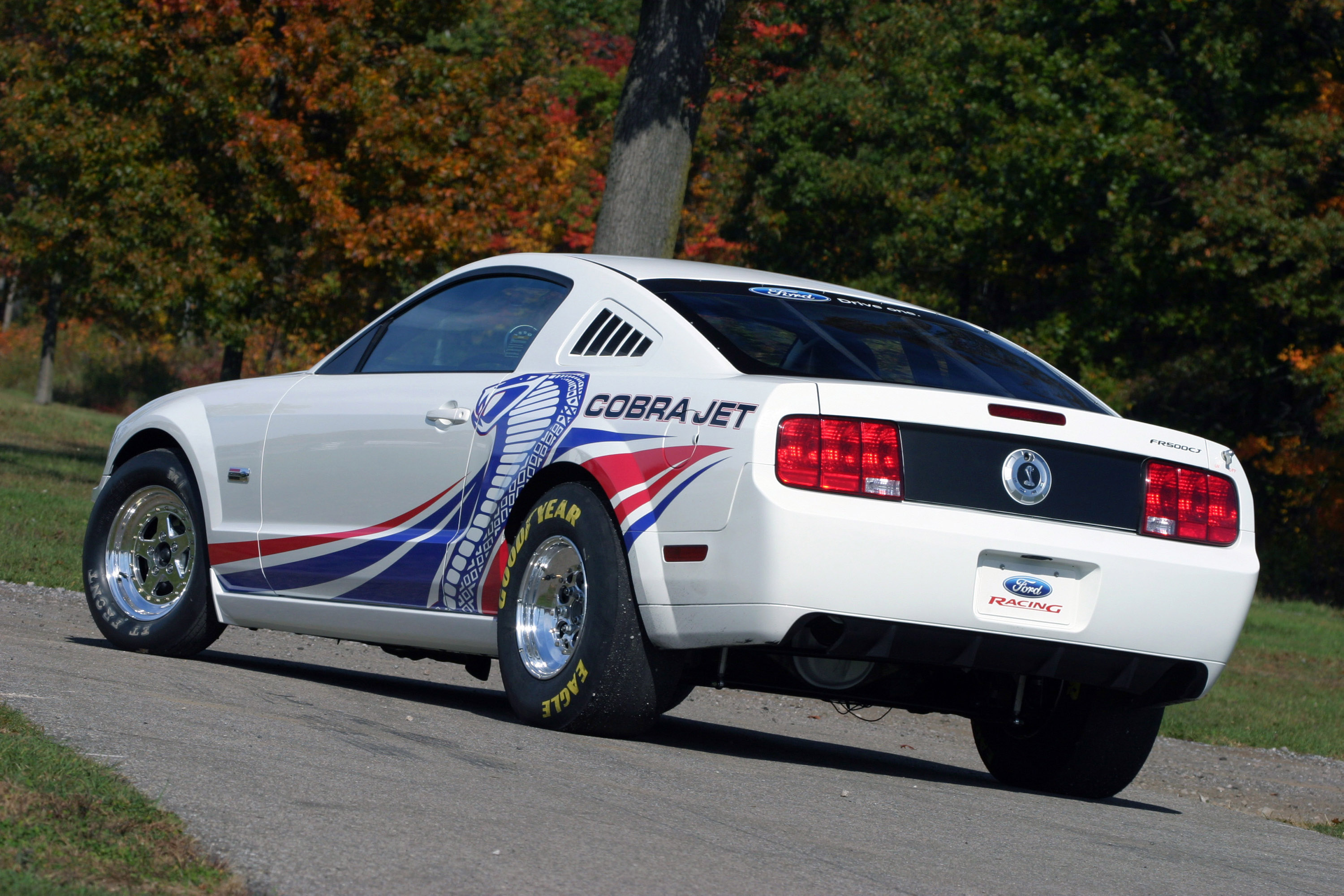 Cobra jet returns to drag racing latest mustang in fr500 for Jet cars review