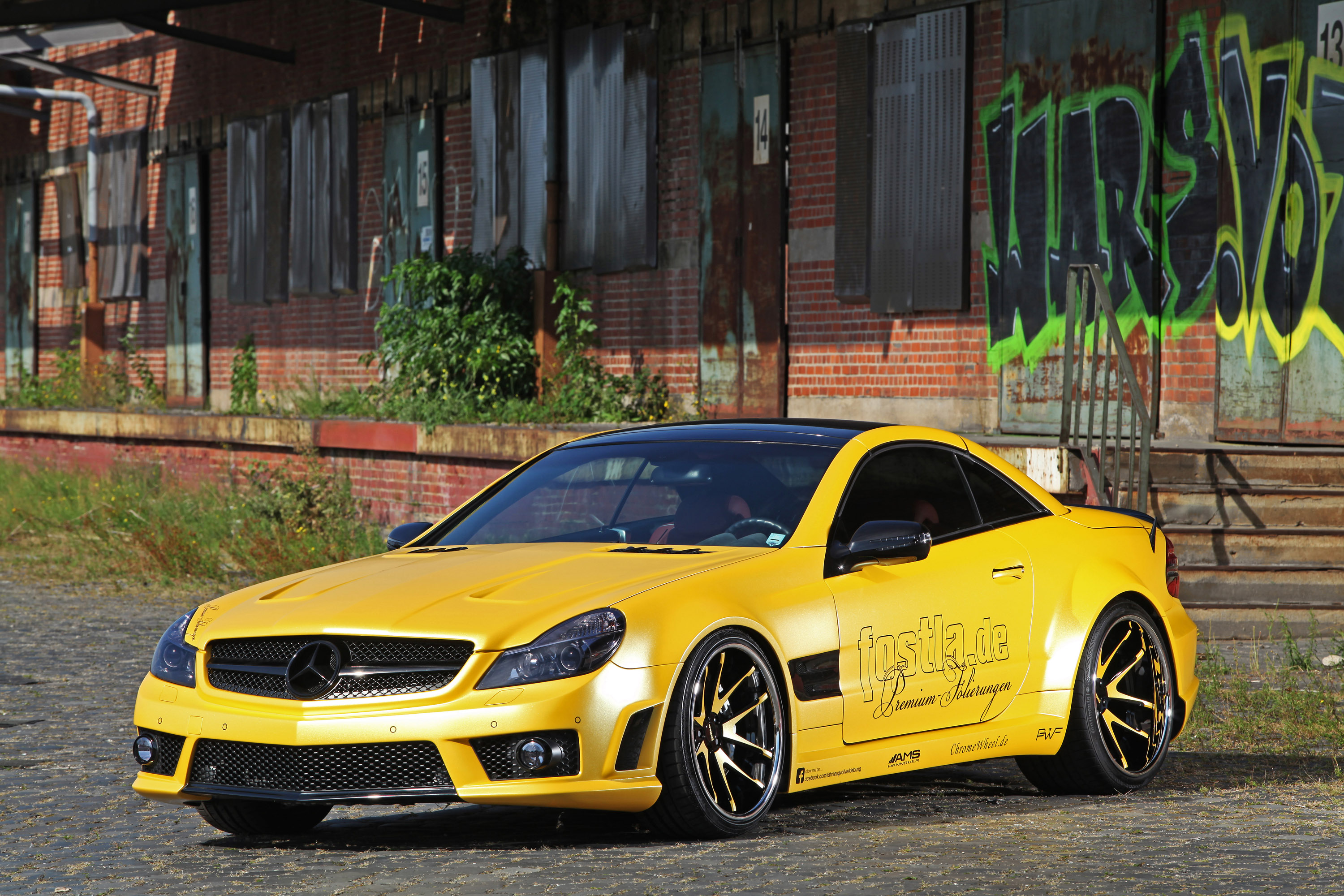 fostla mercedes benz sl 55 amg lquid gold with 548 horsepower. Black Bedroom Furniture Sets. Home Design Ideas